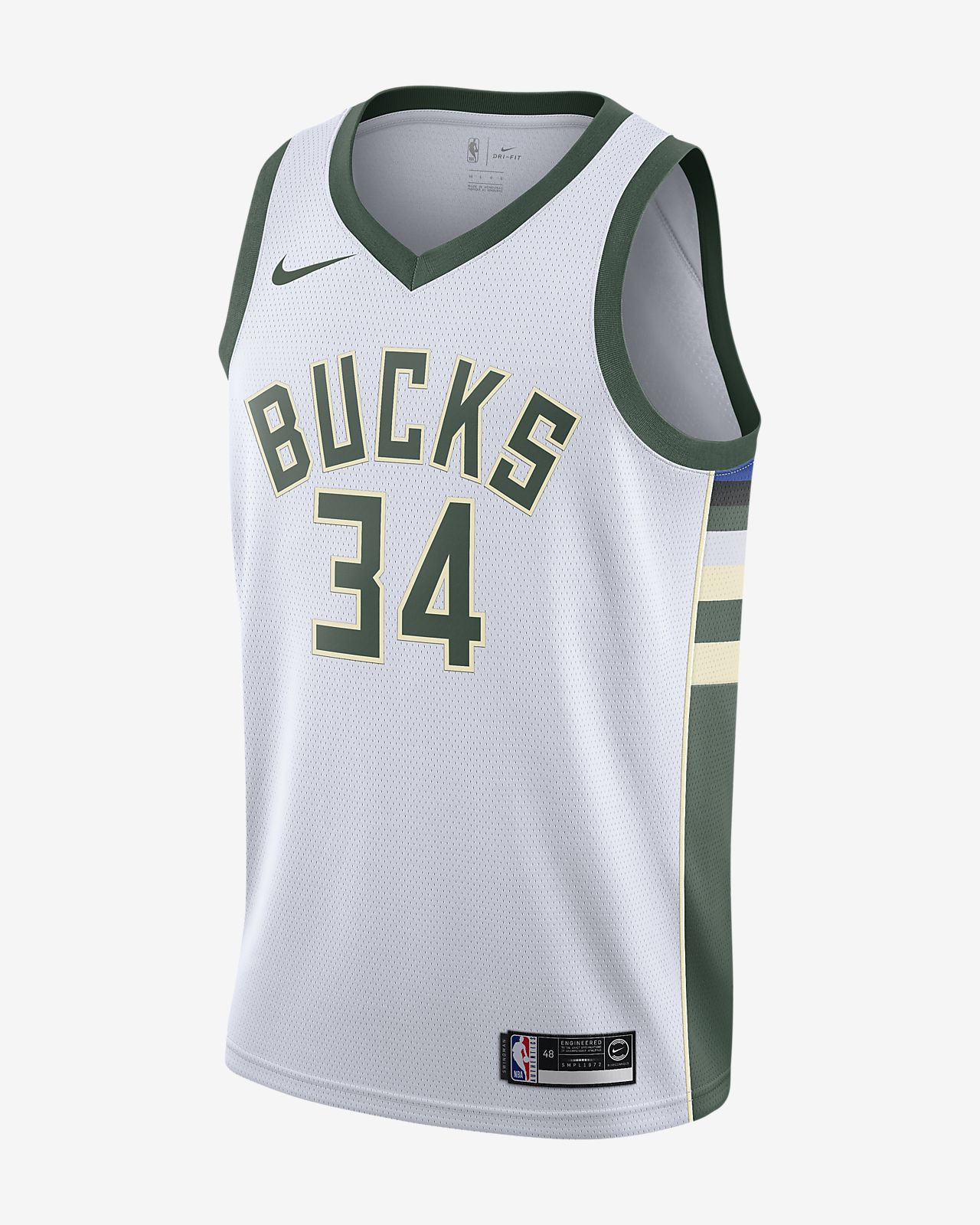 Giannis Antetokounmpo Association Edition Swingman (Milwaukee Bucks)-Nike NBA Connected-trøje til mænd