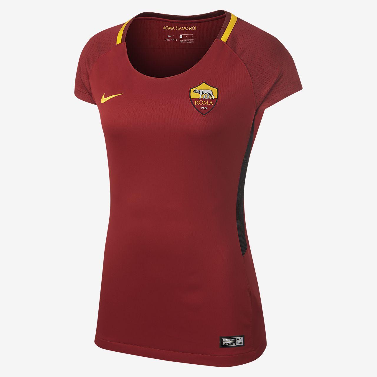 Camiseta de fútbol para mujer A.S. Roma de local para aficionados ... b2a5b656fa0aa