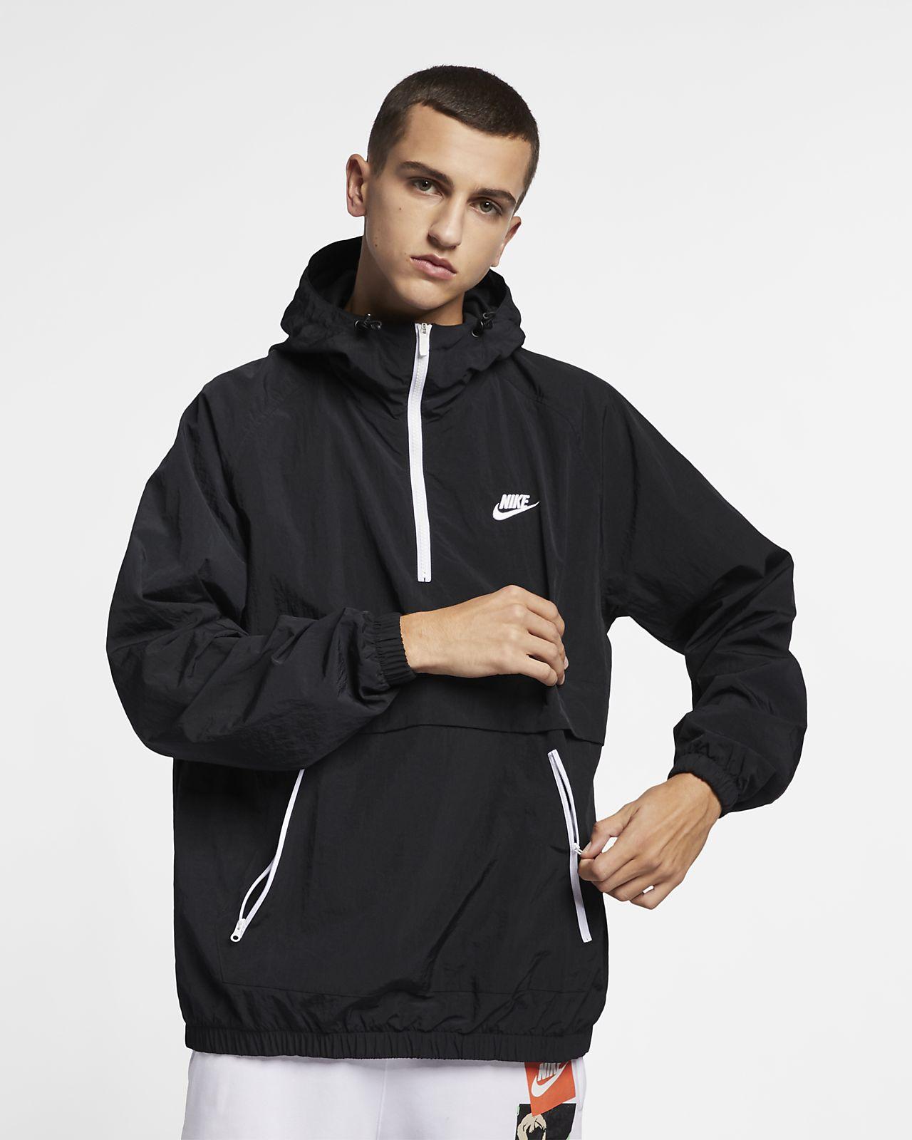 Kurtka typu anorak z kapturem z tkaniny Nike Sportswear