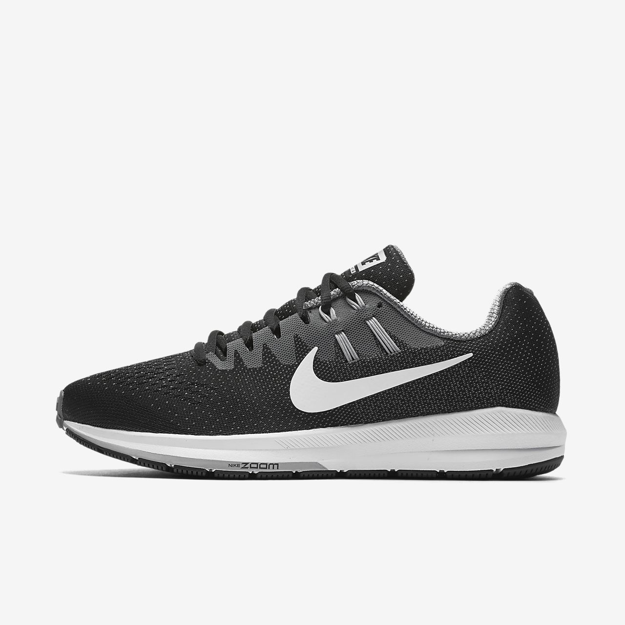 NIKE MEN AIR ZOOM STRUCTURE 20 RUNNING SHOE BLACK 849576-005'