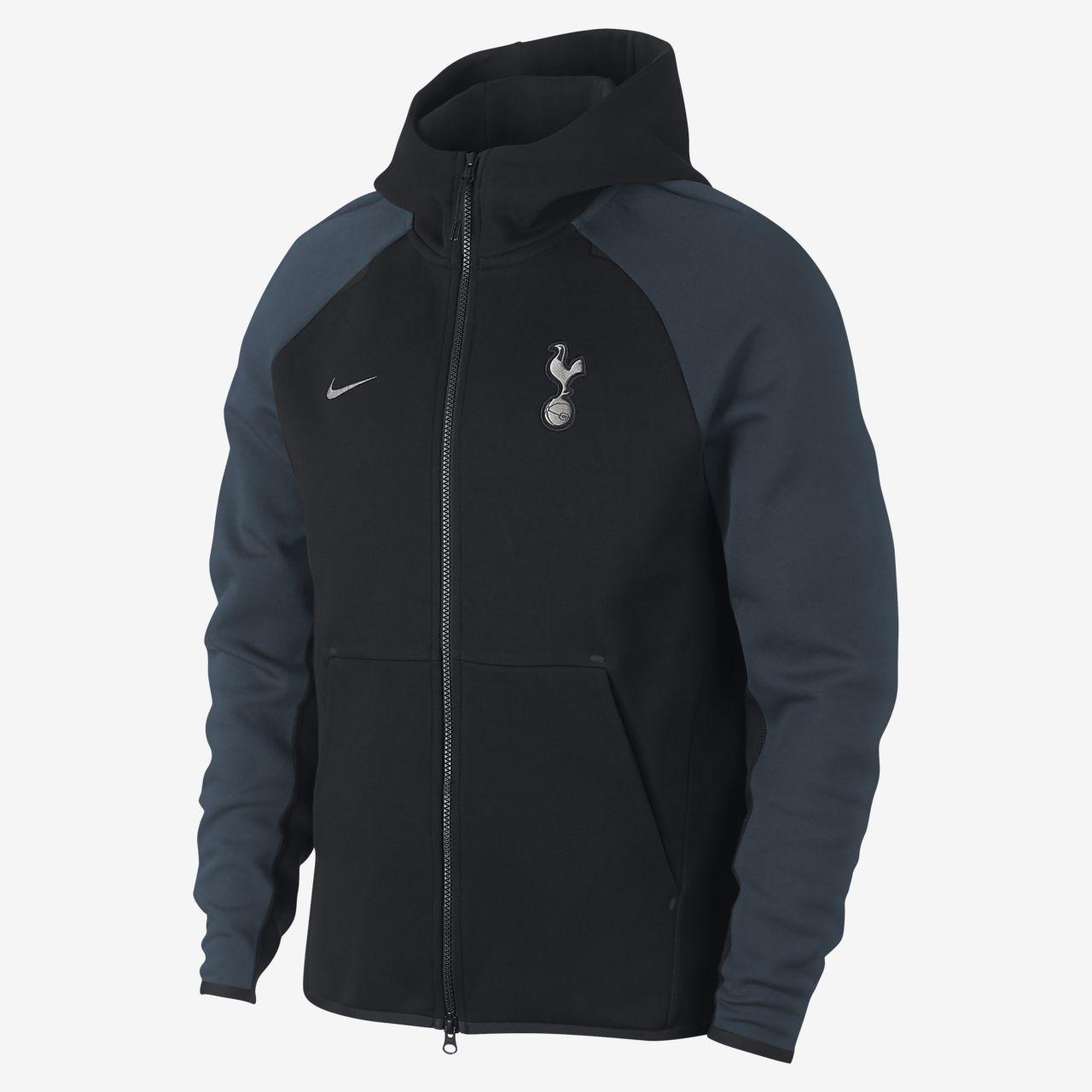 Tottenham Hotspur Tech Fleece-hættetrøje med lynlås til mænd