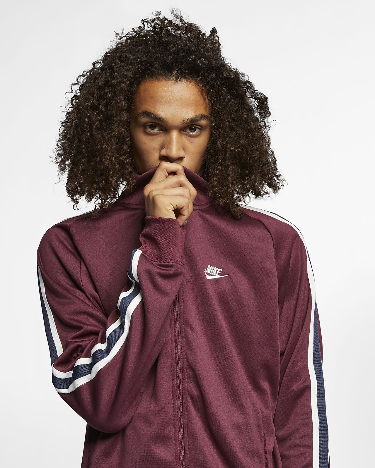 Uppvärmningsjacka Nike Sportswear N98 i stickat material för män