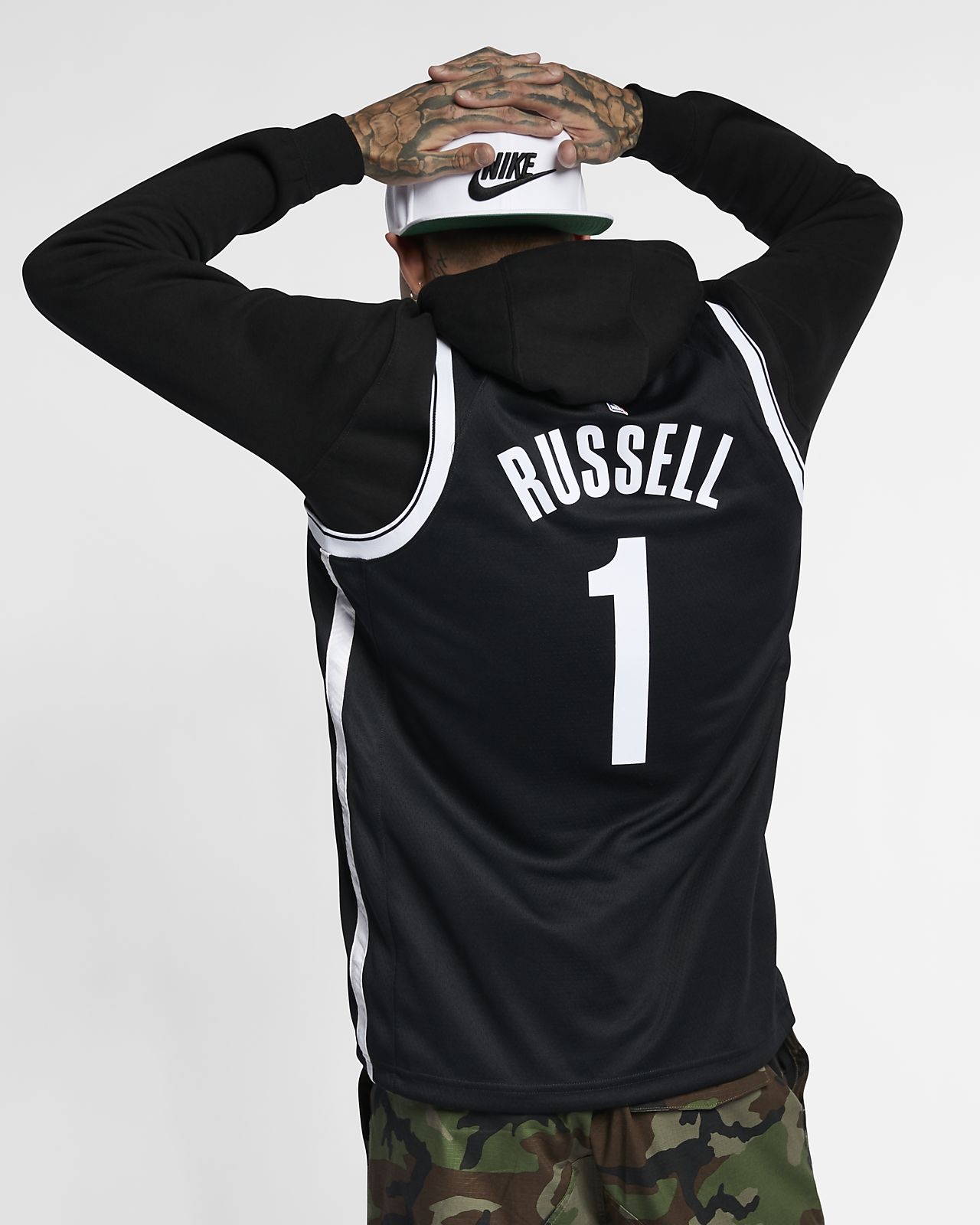 ... D Angelo Russell Icon Edition Swingman (Brooklyn Nets) Men s Nike NBA  Connected Jersey 89b606f65