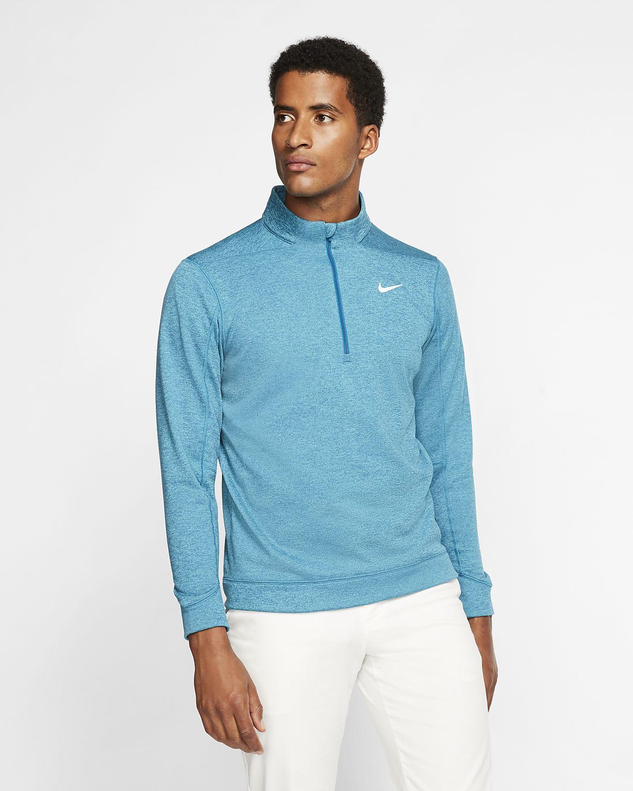 Nike Therma Repel golfoverdel med glidelås i halsen til herre