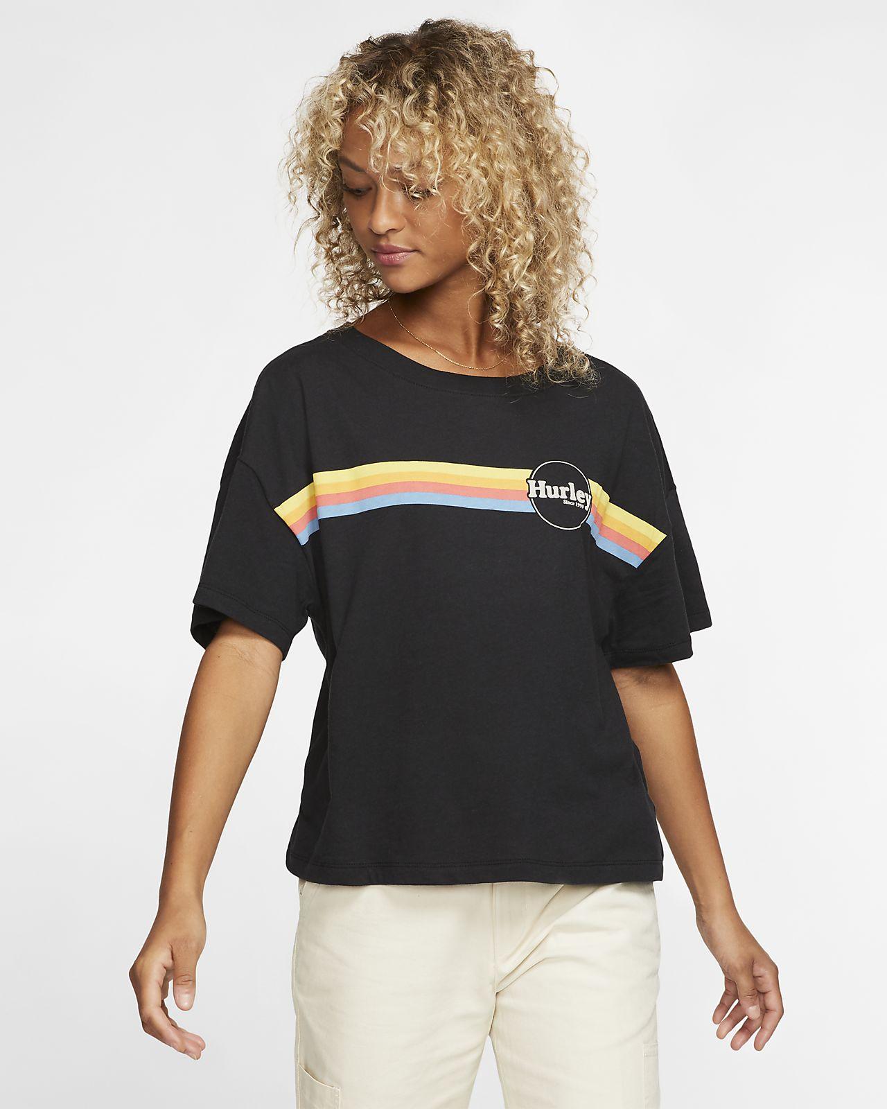 Tee-shirt Hurley Jammer Stripe Flouncy pour Femme
