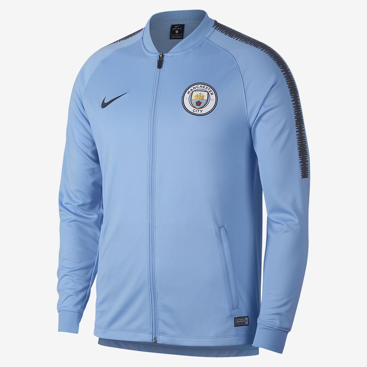 4462600eab8 Pánská fotbalová bunda Manchester City FC Dri-FIT Squad. Nike.com CZ