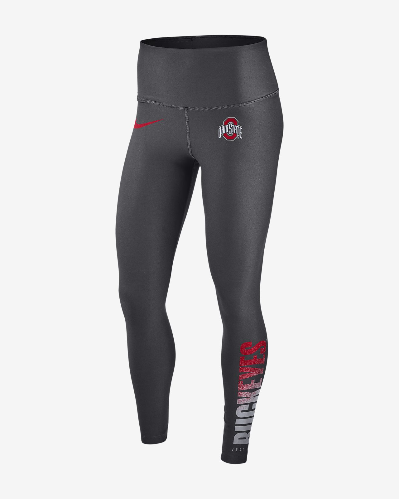 Nike College Power Sculpt (Ohio State) Women's Training Tights