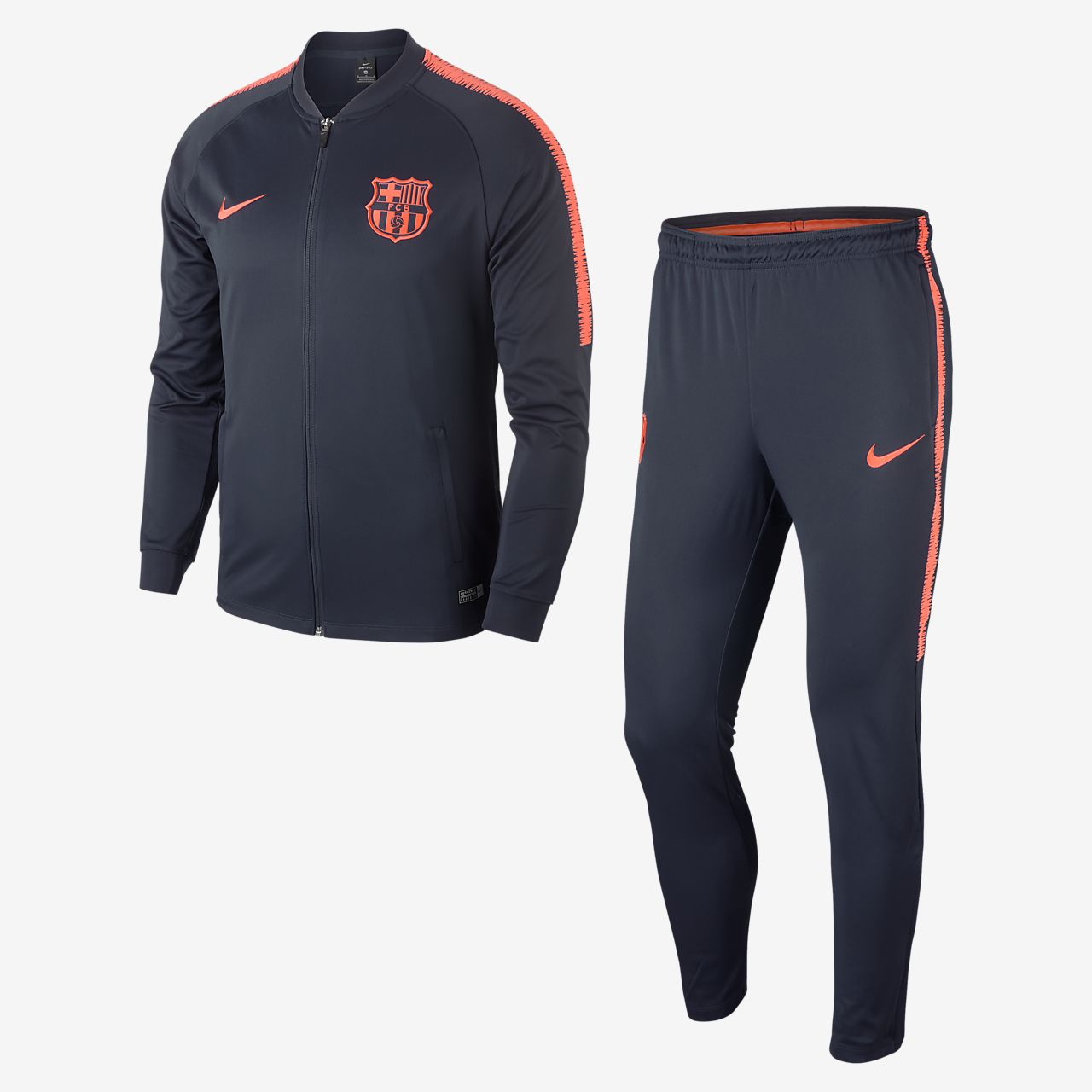 fc barcelona dri fit squad men 39 s football track suit ro. Black Bedroom Furniture Sets. Home Design Ideas