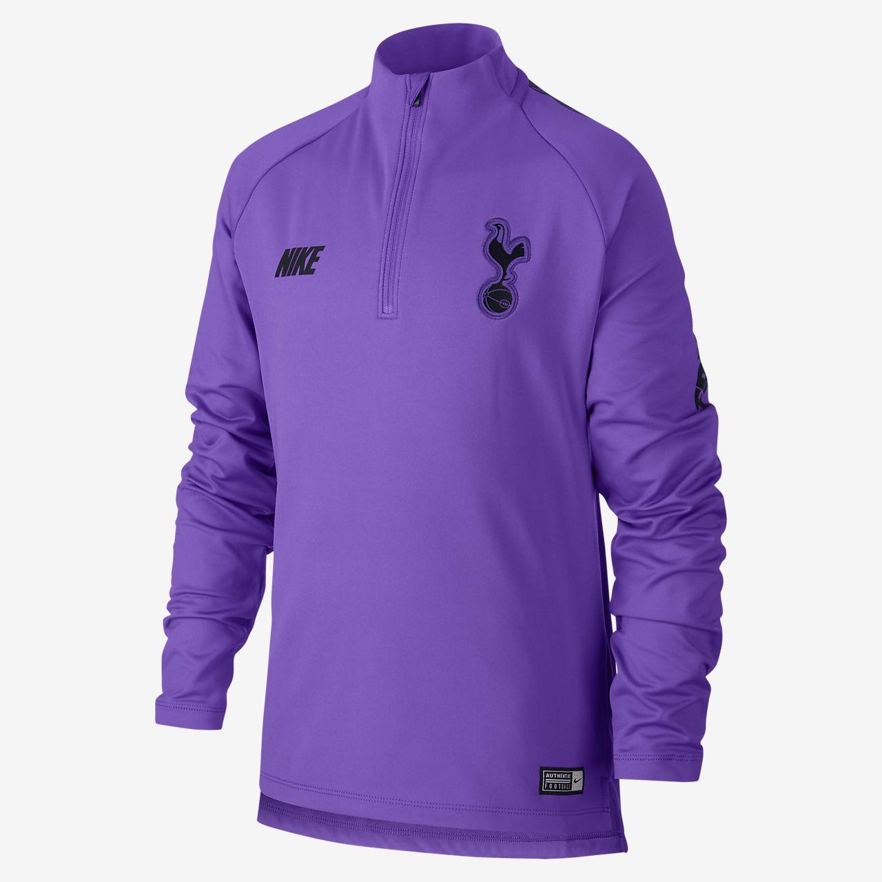 Nike Dri FIT Squad Drill Langarm Fußballoberteil für ältere Kinder (Jungen)