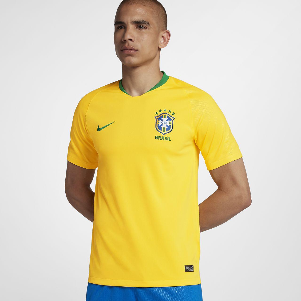 Мужское футбольное джерси 2018 Brasil CBF Stadium Home