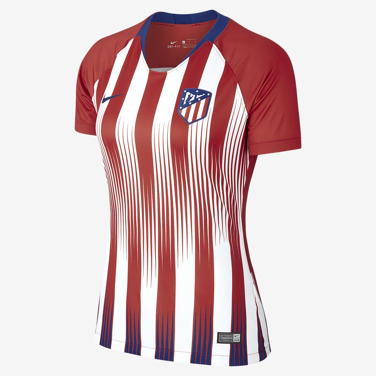 detailed look 13388 e0540 ... Camiseta de fútbol para mujer de local Stadium del Atlético de Madrid  2018 19