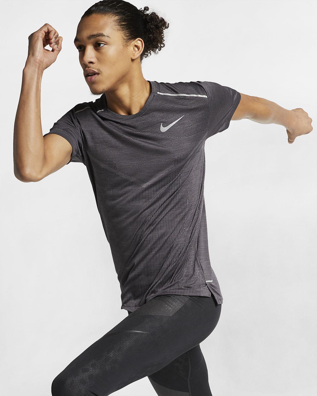 Męska koszulka z krótkim rękawem do biegania Nike TechKnit Ultra