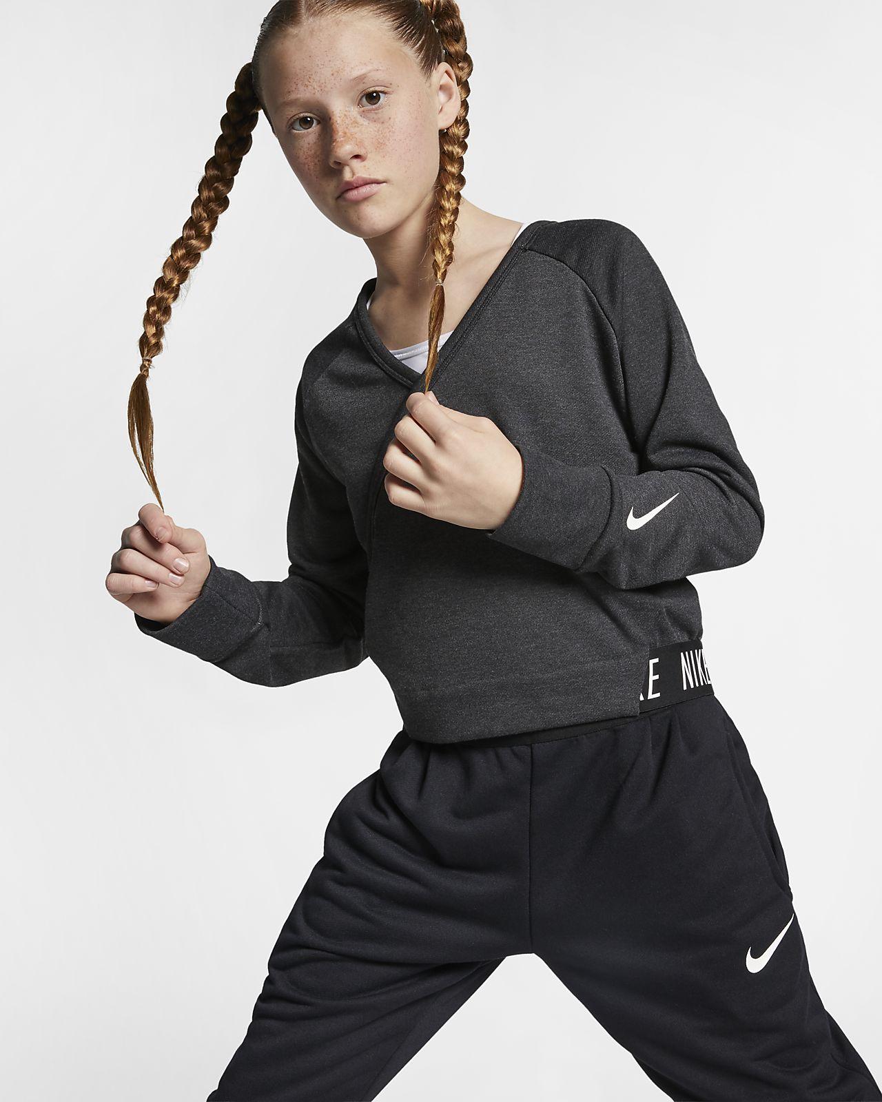 9f8bfdb7b5ce1 Nike Older Kids  (Girls ) Long-Sleeve Reversible Training Top. Nike ...