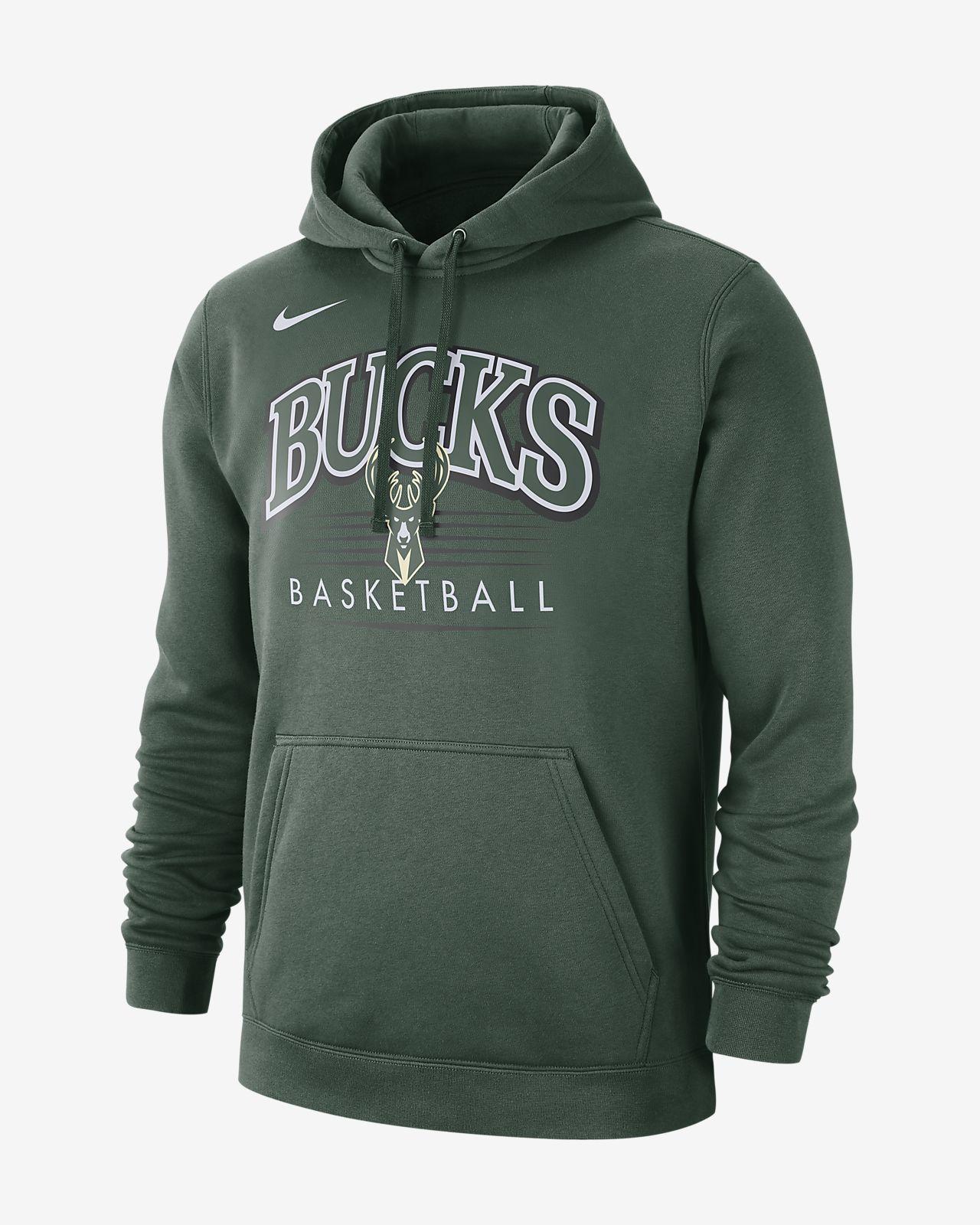 Milwaukee Bucks Nike NBA-s kapucnis férfipulóver