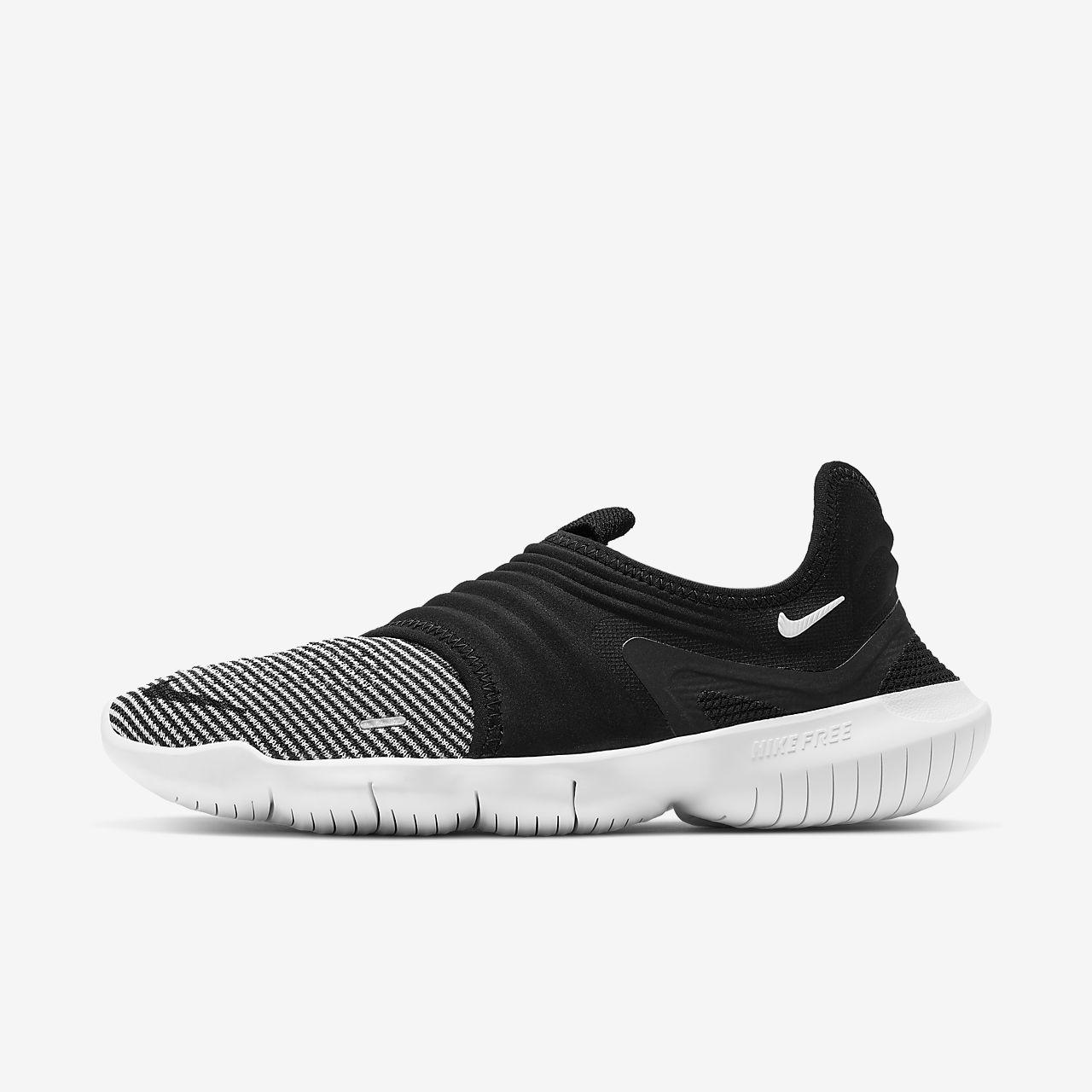Zum halben Preis Nike Free 3.0 Frauen Flyknit Schwarz Weiß