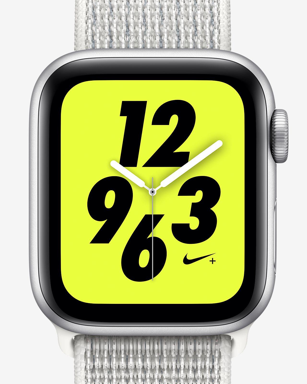 Apple Watch Nike+ Series 4 (GPS) mit Nike Sport Loop 40-mm-Sportuhr