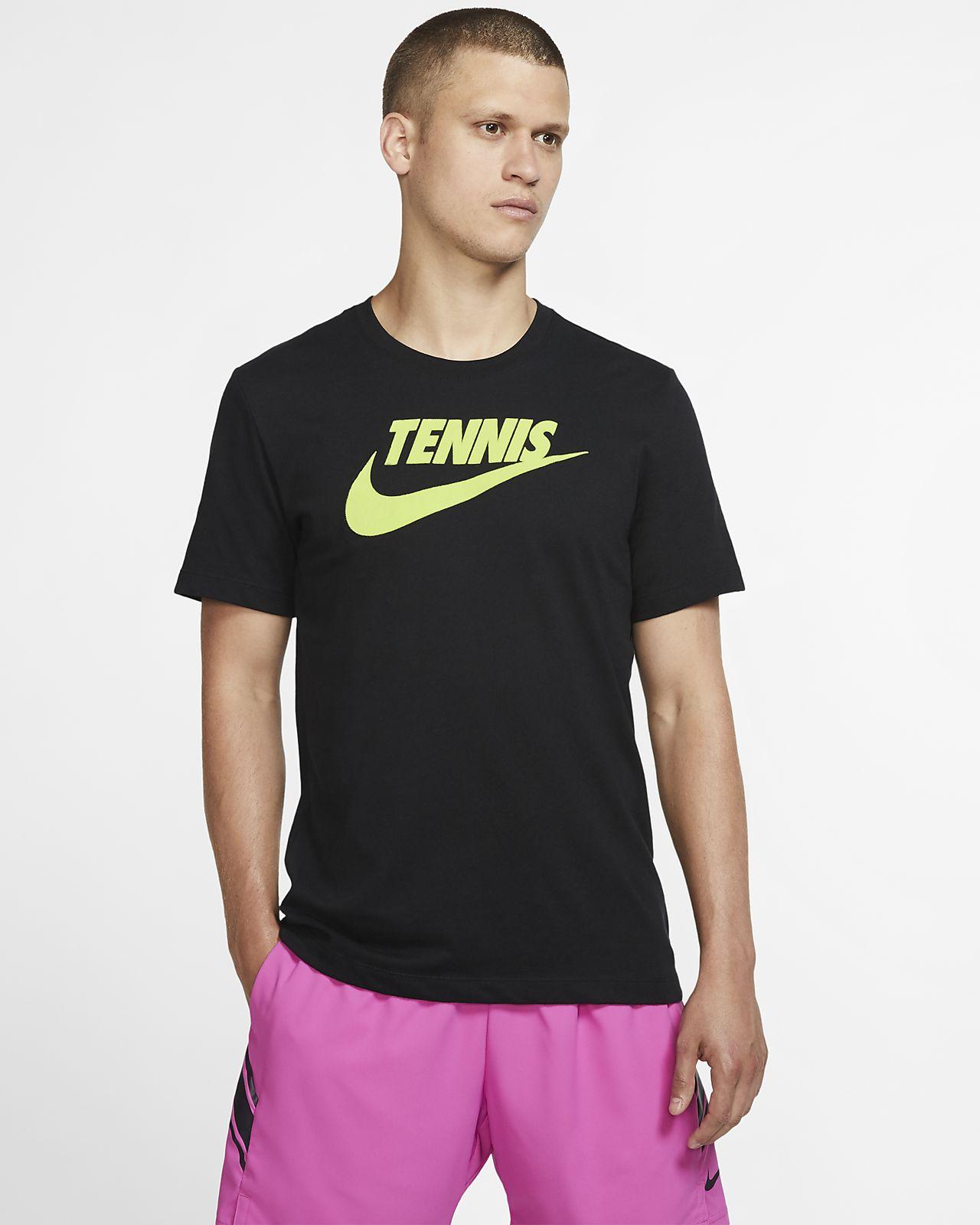 Męski T-shirt do tenisa z nadrukiem NikeCourt Dri-FIT