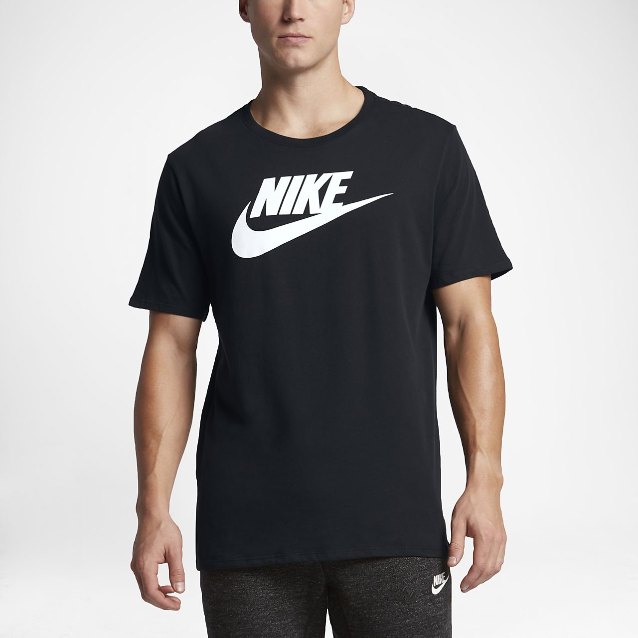 Nike sportswear men 39 s logo t shirt ma for Nike flyknit t shirt
