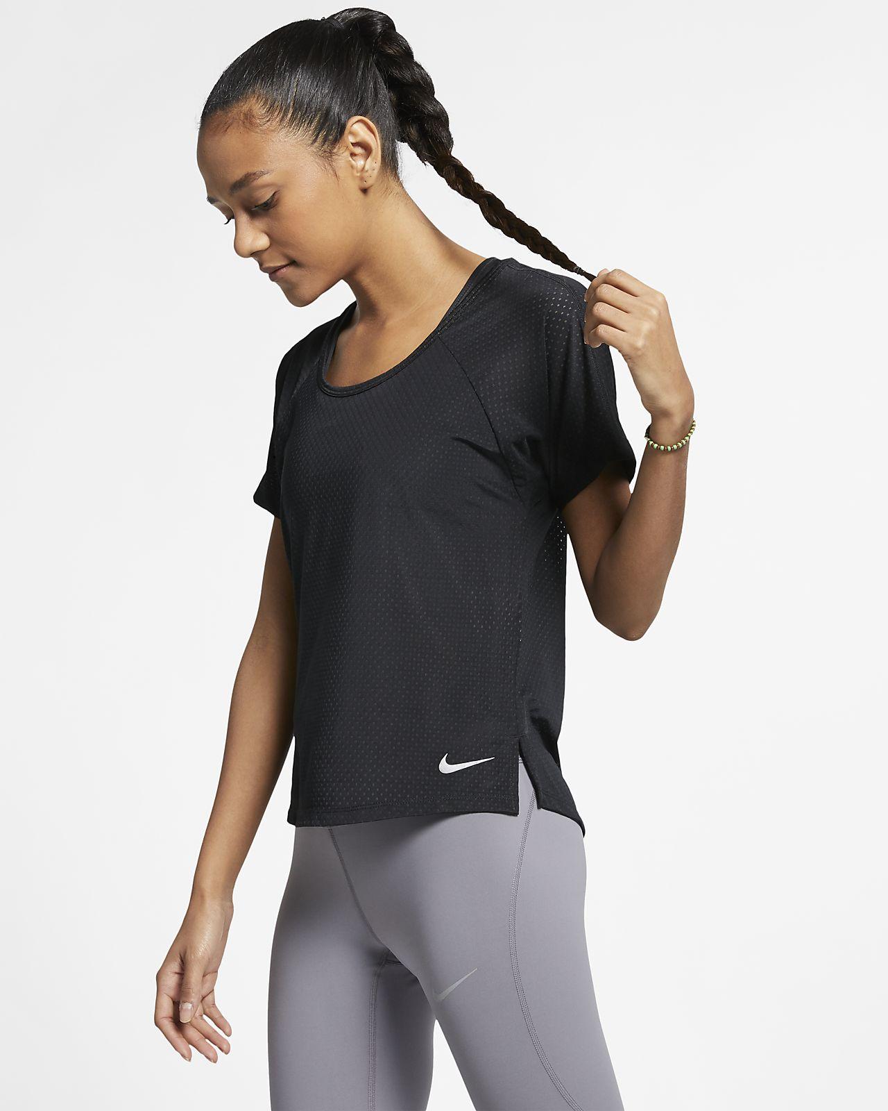 Damska koszulka do biegania Nike Breathe Miler