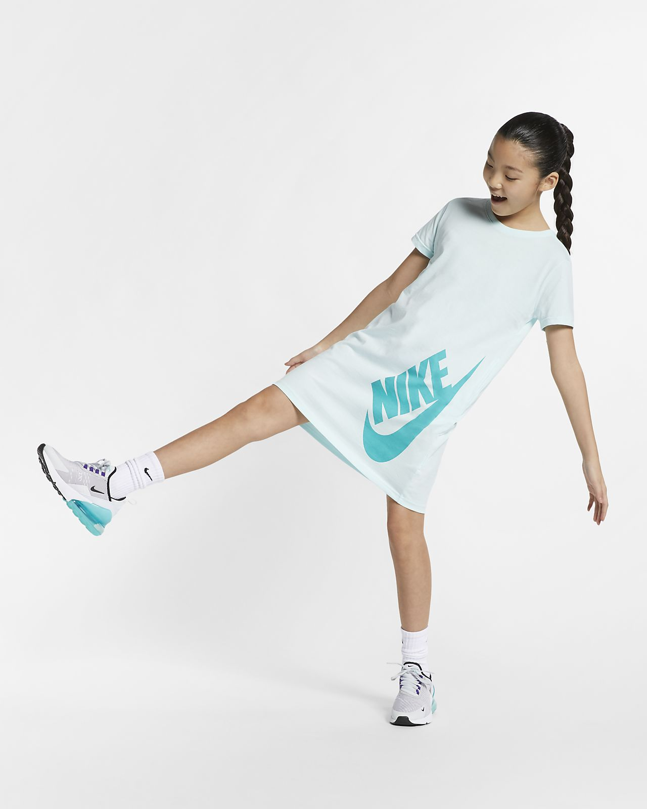 9ee950903d38 Nike Sportswear Big Kids' (Girls') T-Shirt Dress. Nike.com