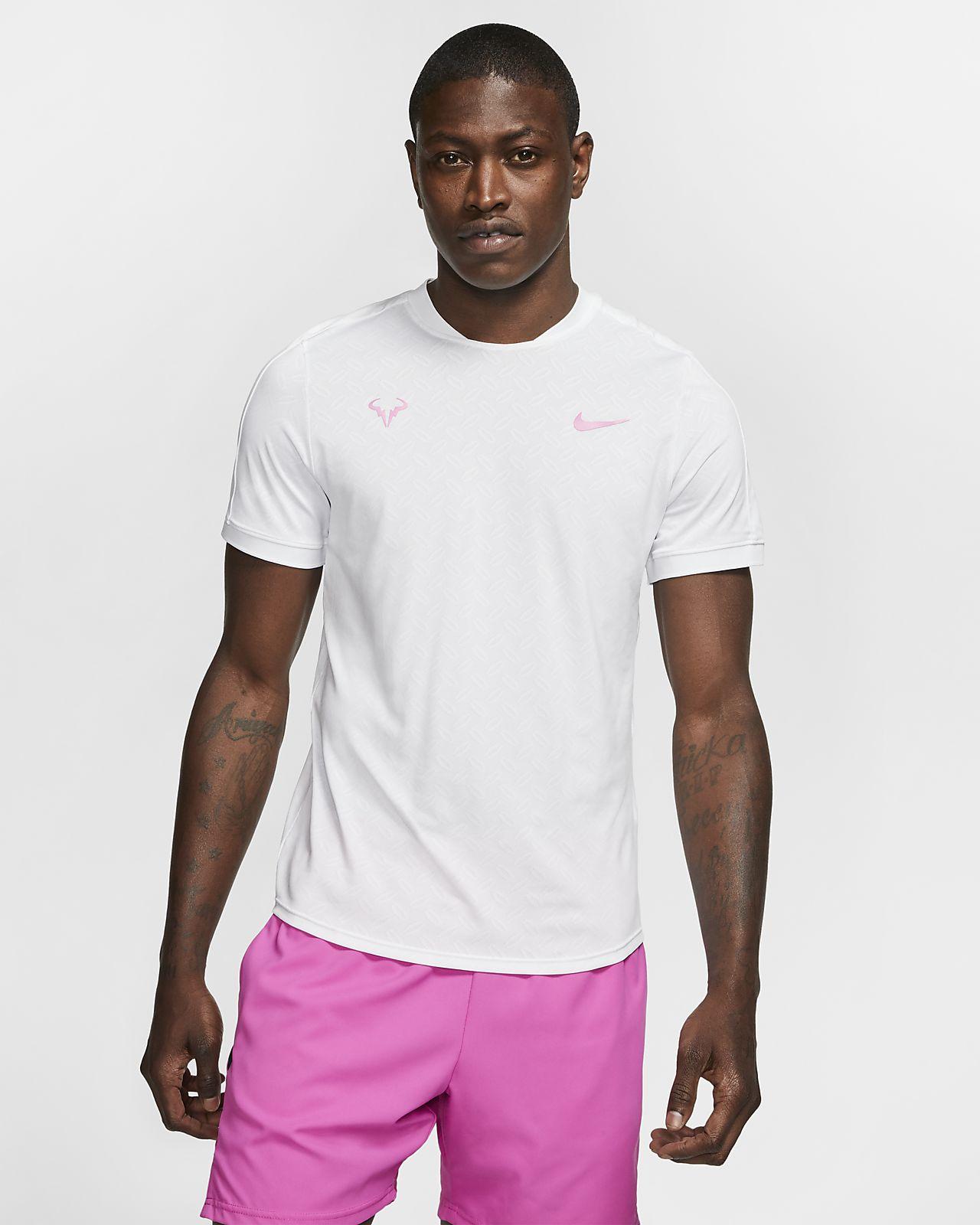 Męska koszulka do tenisa NikeCourt AeroReact Rafa