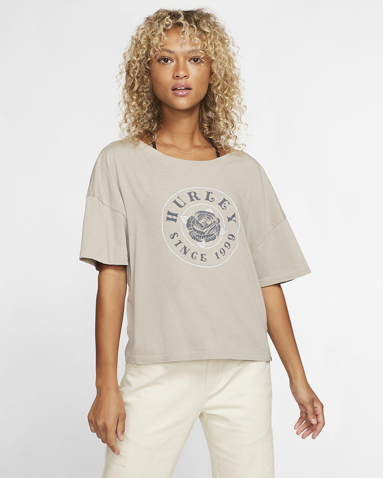 nike t shirt damen beige