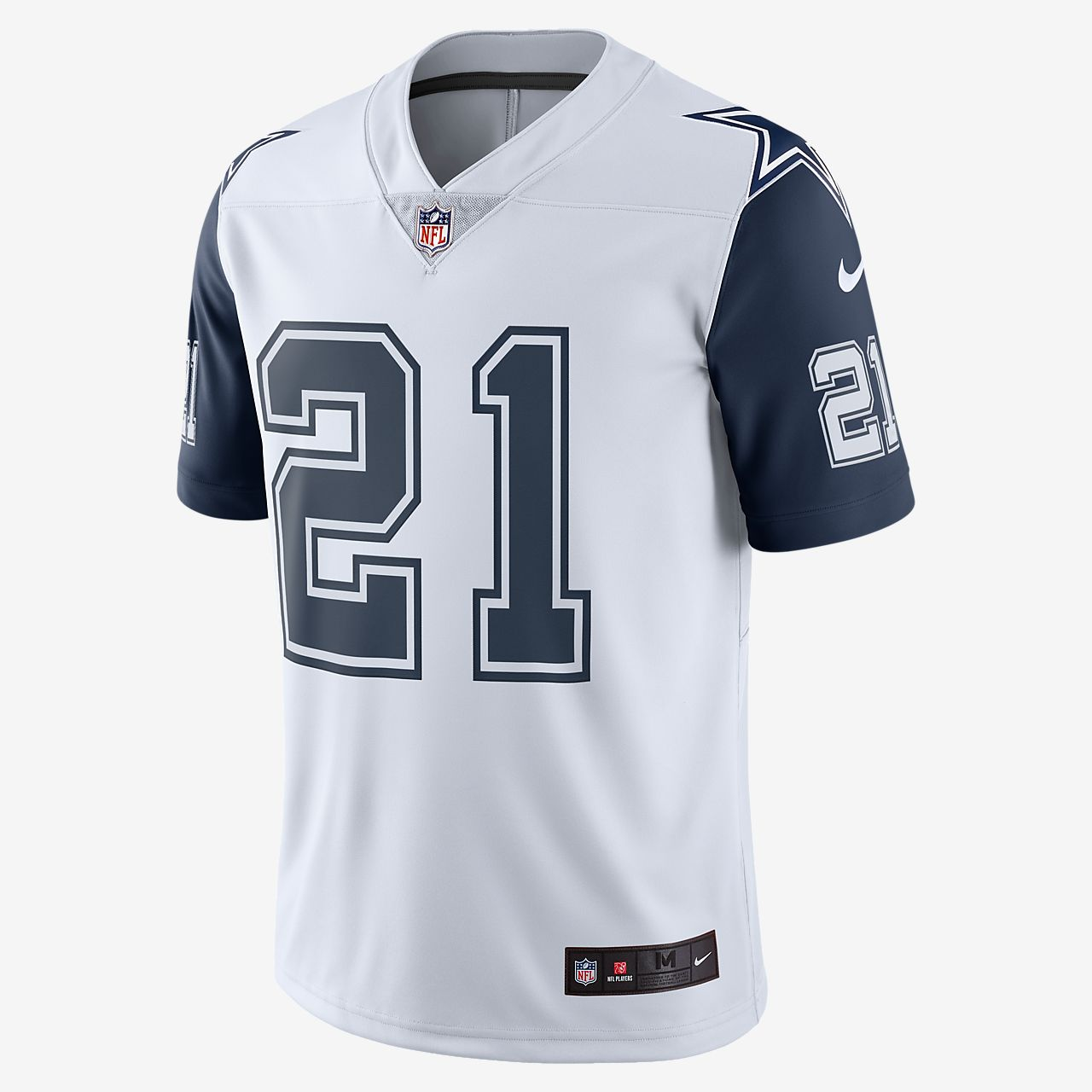 on sale c26db 69da3 NFL Dallas Cowboys Dri-FIT (Ezekiel Elliott) Men's Limited Colour Rush  American Football Jersey