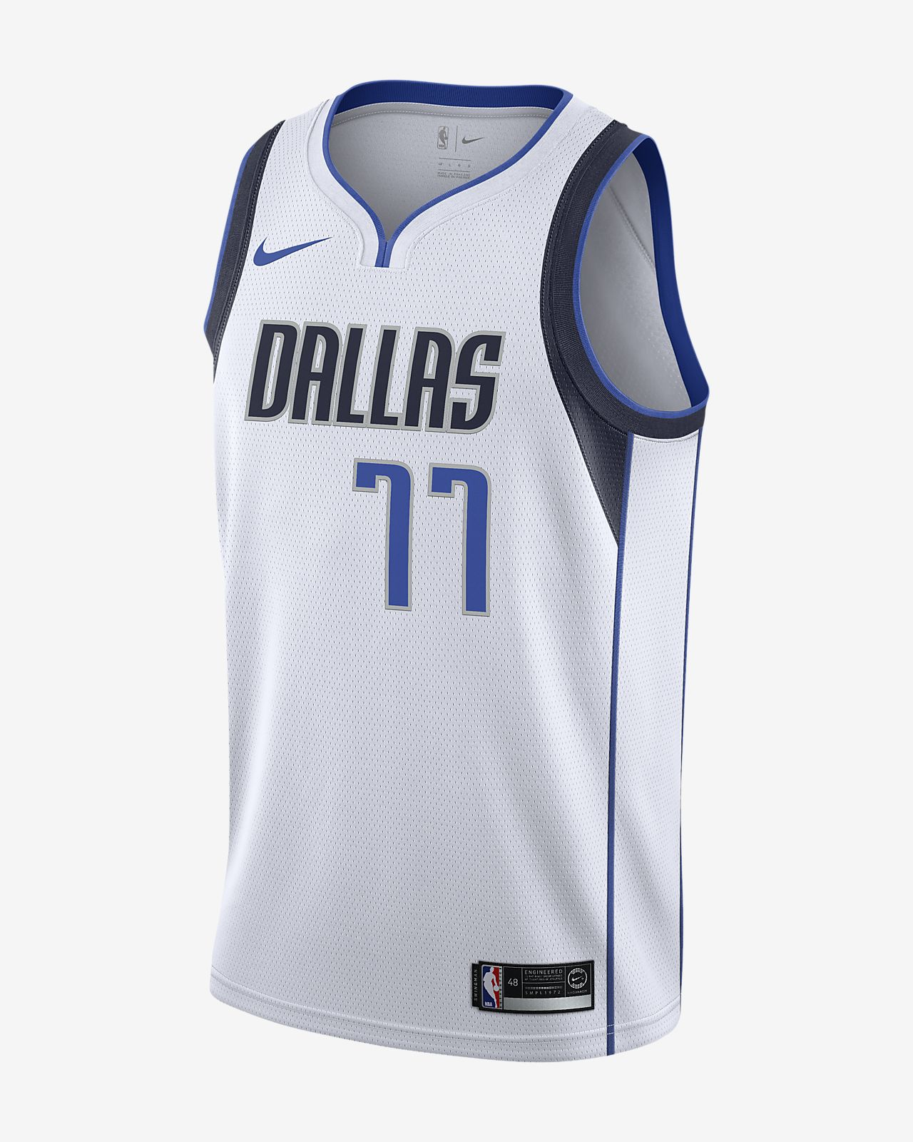 Luka Doncic Association Edition Swingman (Dallas Mavericks) Nike NBA Connected Trikot für Herren
