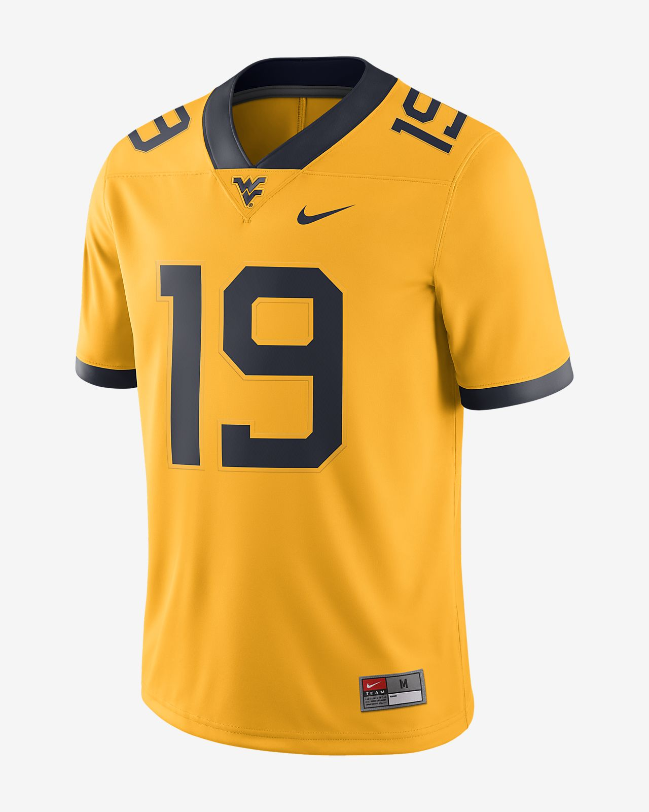 Nike College Dri-FIT Game (West Virginia) Men's Football Jersey