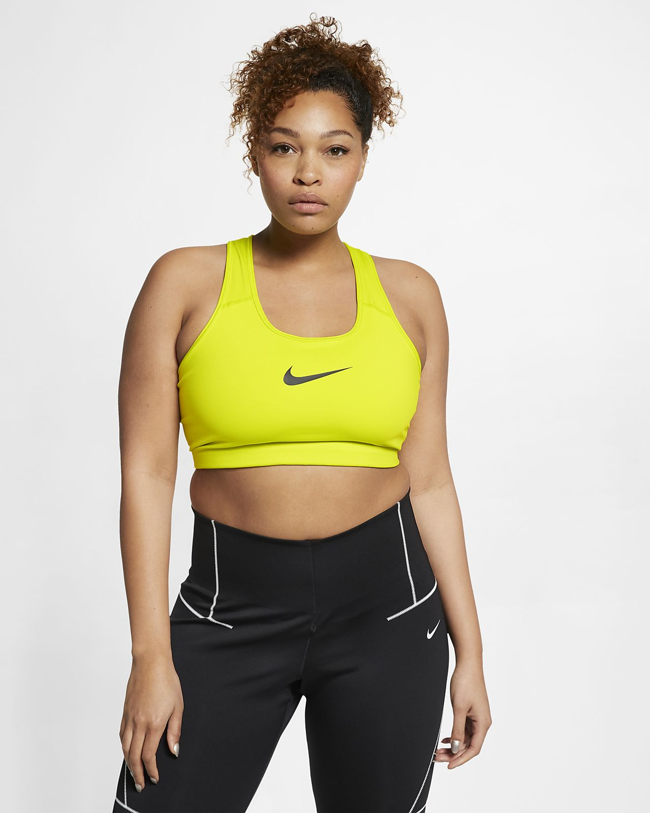 c645dbe4b5867 Nike Women's Swoosh Medium-Support Sports Bra (Plus Size). Nike.com MA