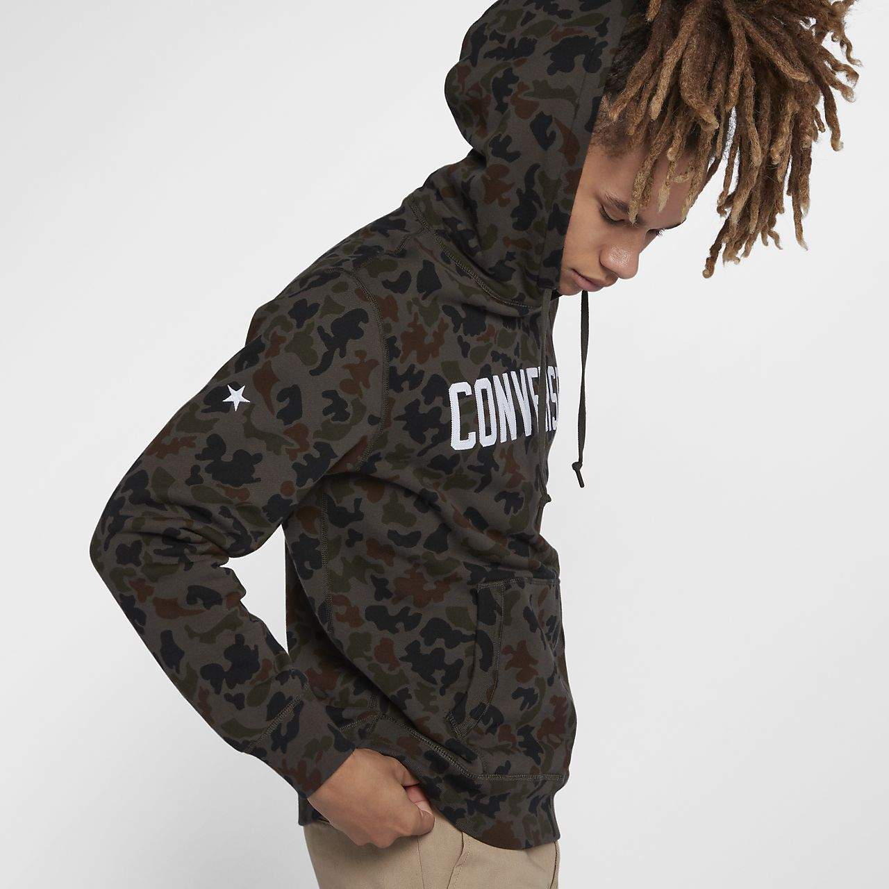 converse camo hoodie