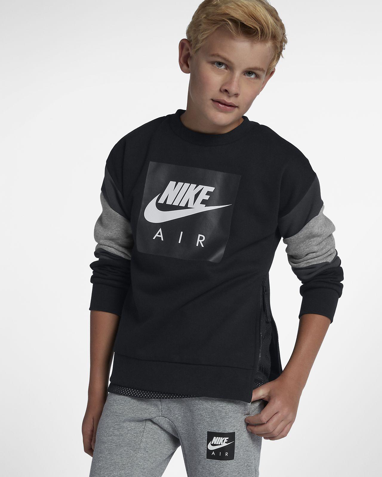 Mikina s kulatým výstřihem Nike Air pro větší děti. Nike.com CZ 8ecb8756ab