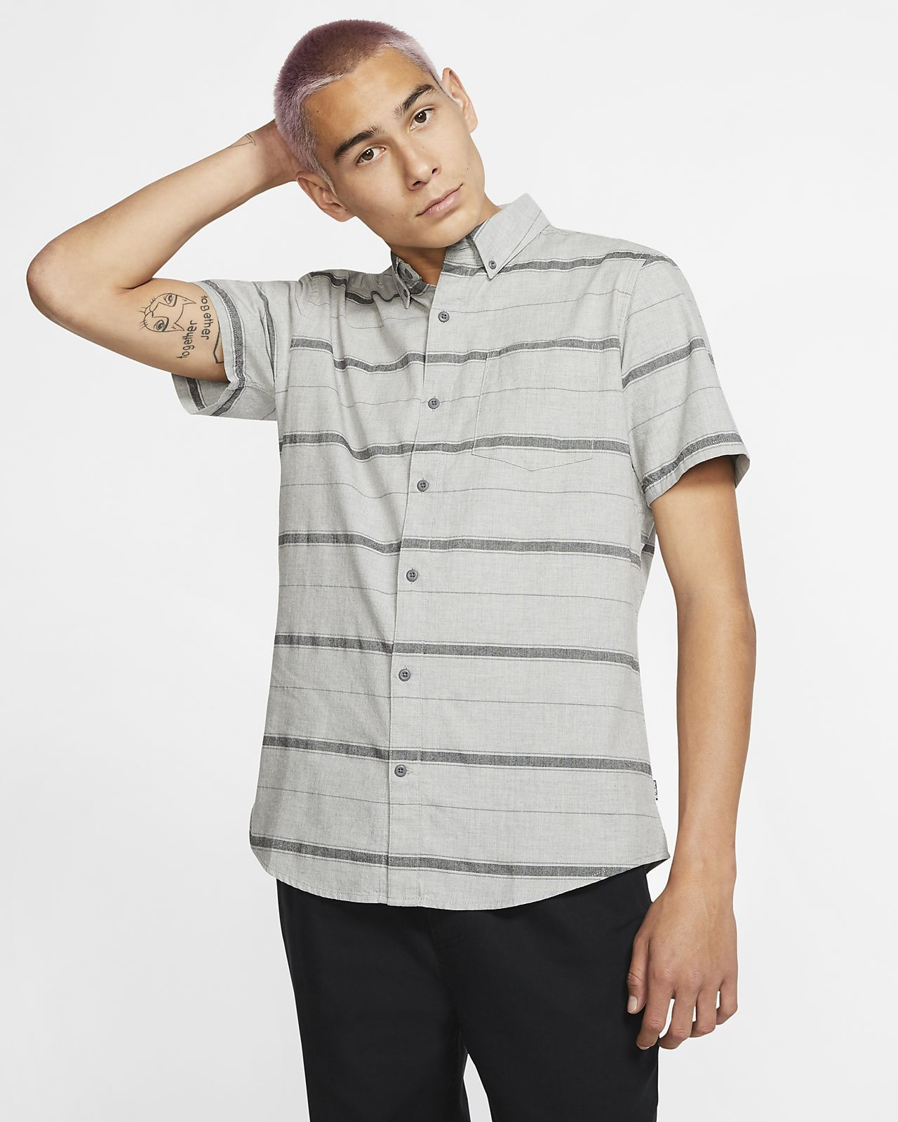 Kortärmad tröja Hurley Thompson Stretch för män