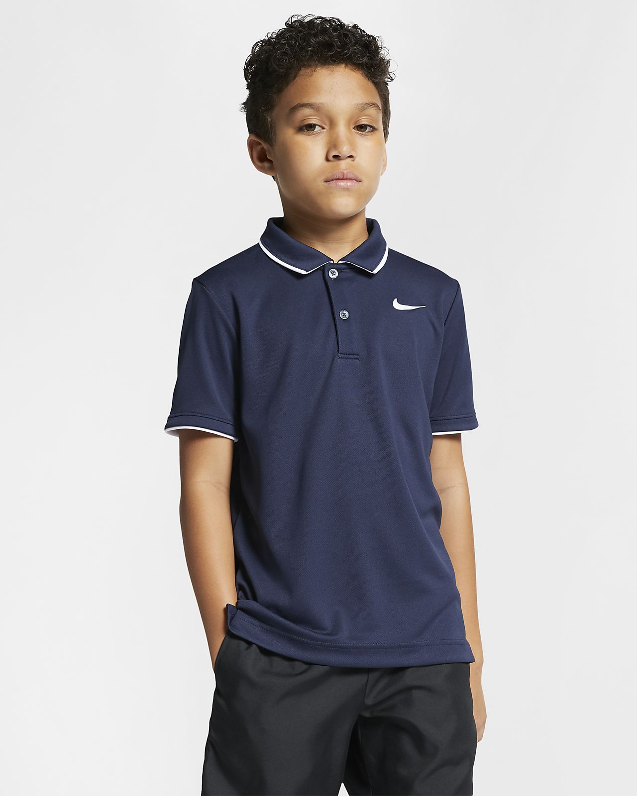 NikeCourt Dri-FIT Genç Çocuk (Erkek) Tenis Polo Üst