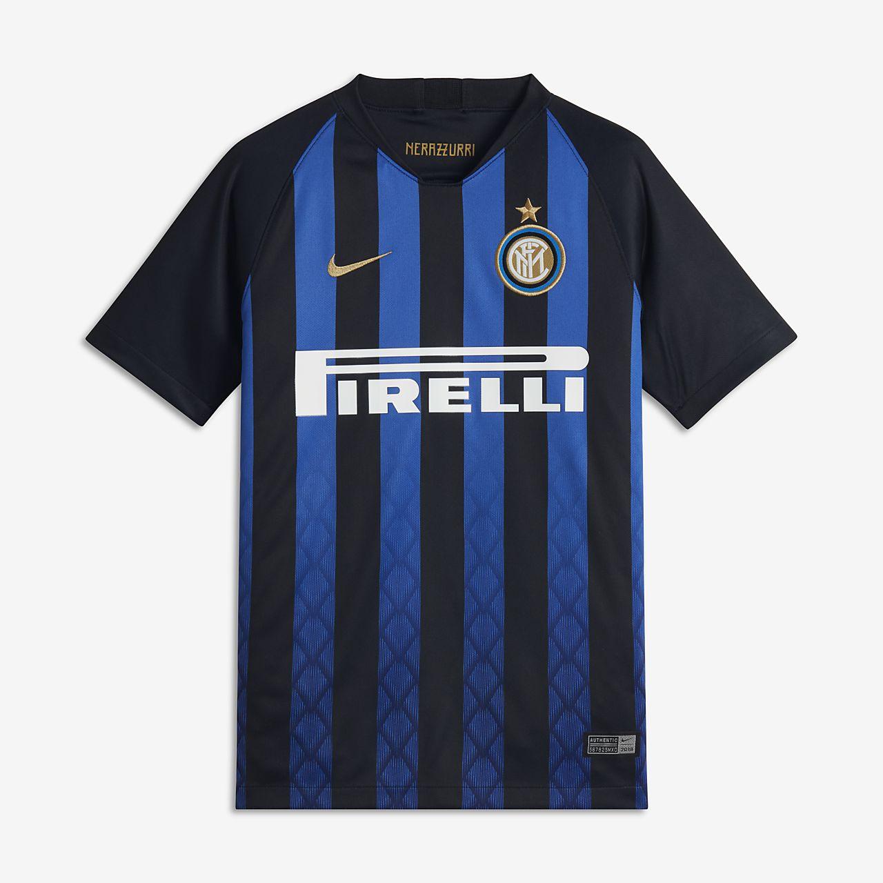 2018/19 Inter Mailand Stadium Home Fußballtrikot für ältere Kinder