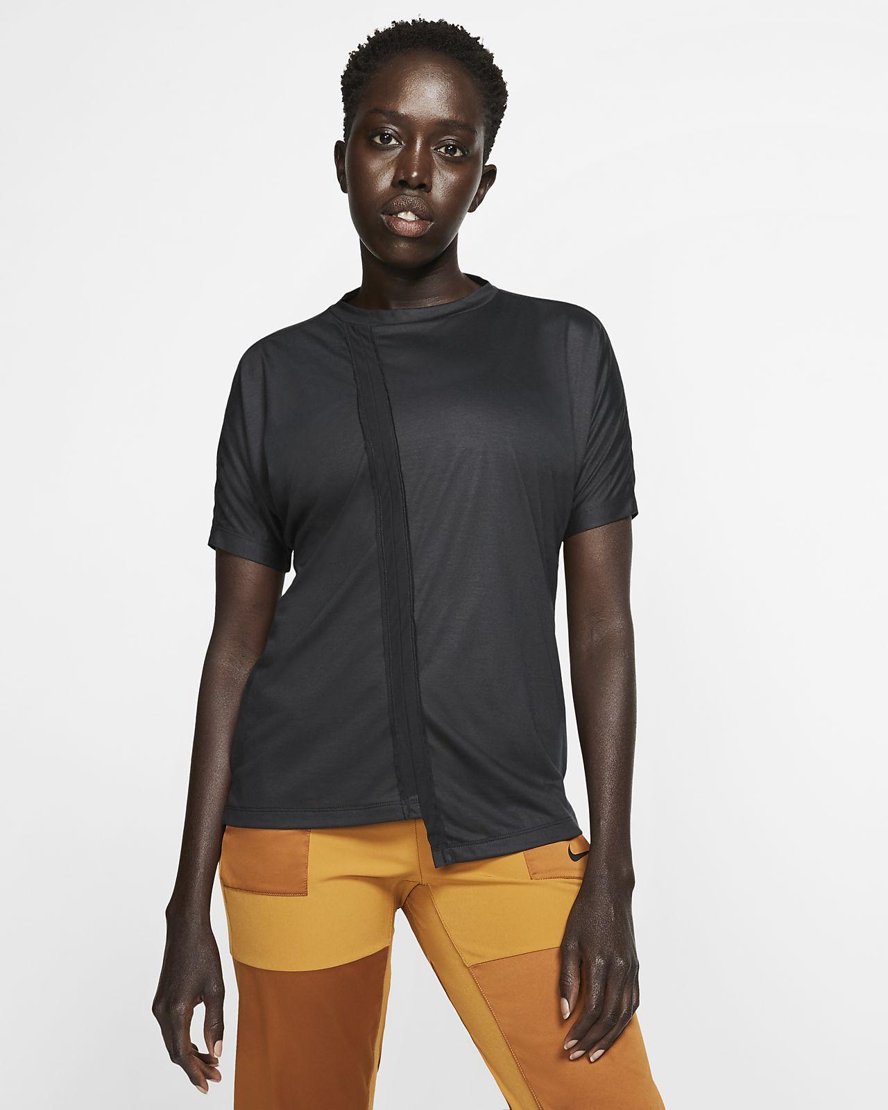 Nike Camiseta de running de manga corta - Mujer