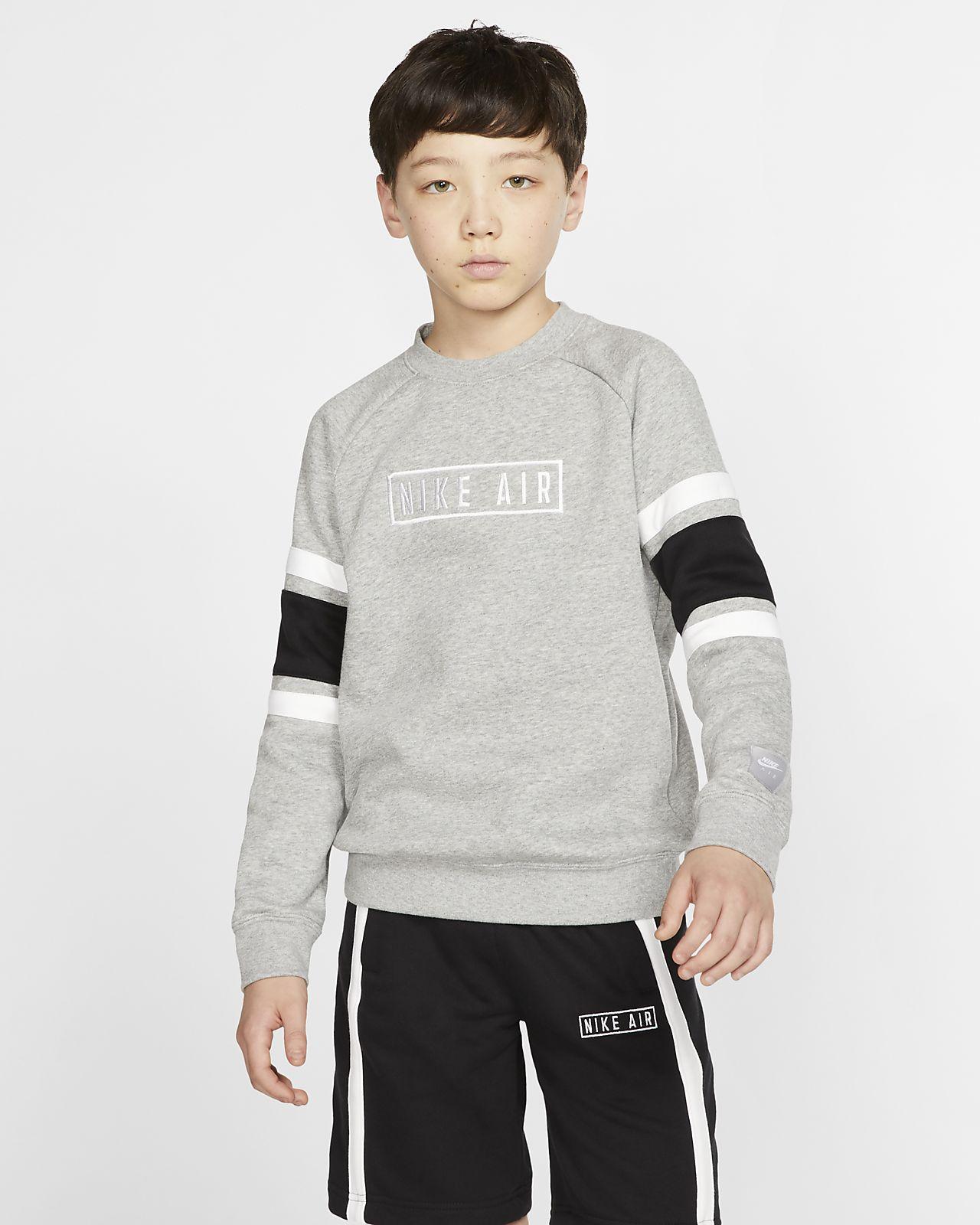 Mikina s kulatým výstřihem Nike Air pro větší děti (chlapce)
