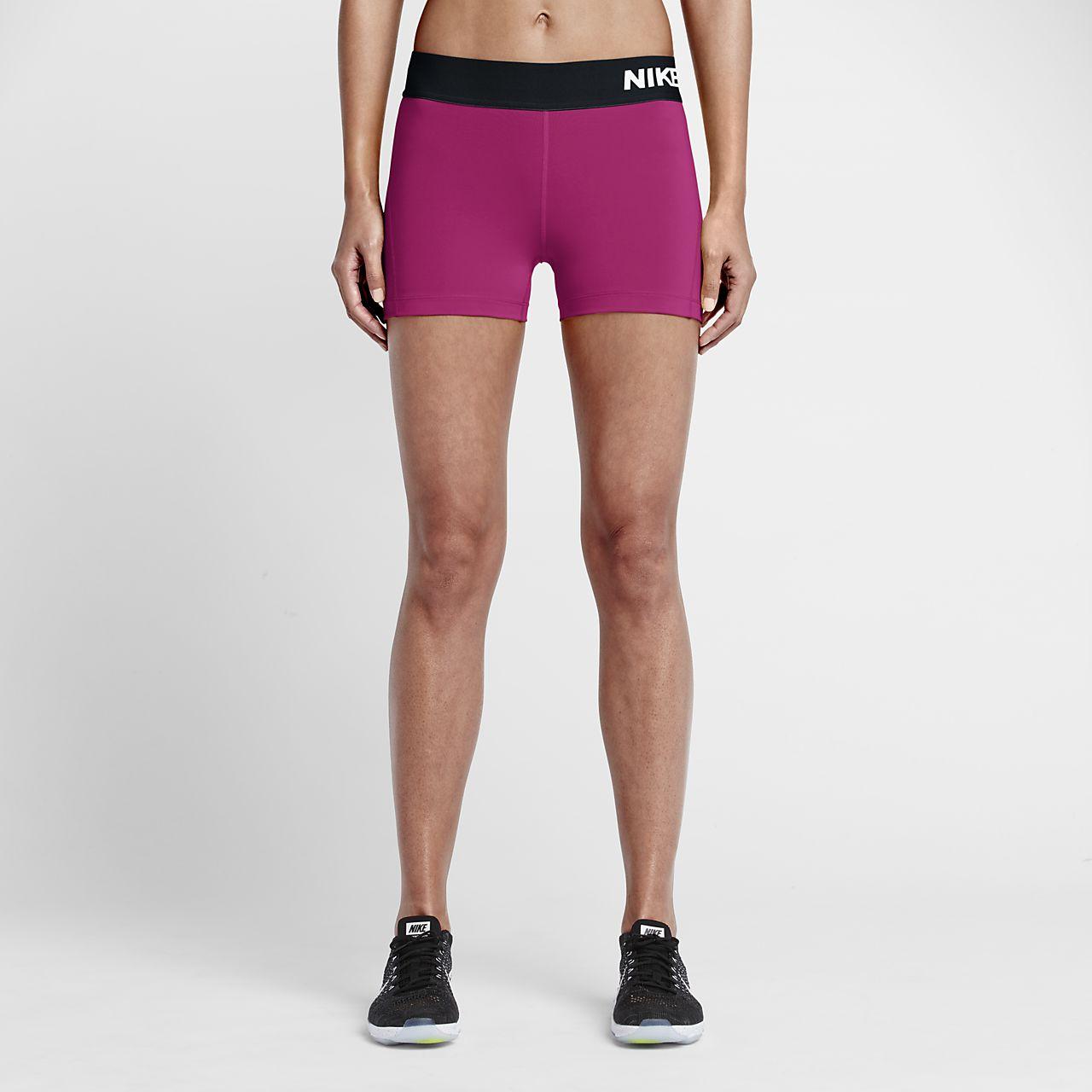 Women Nike Pro 7.5 cm Black/Vivid Pink/Vivid Pink