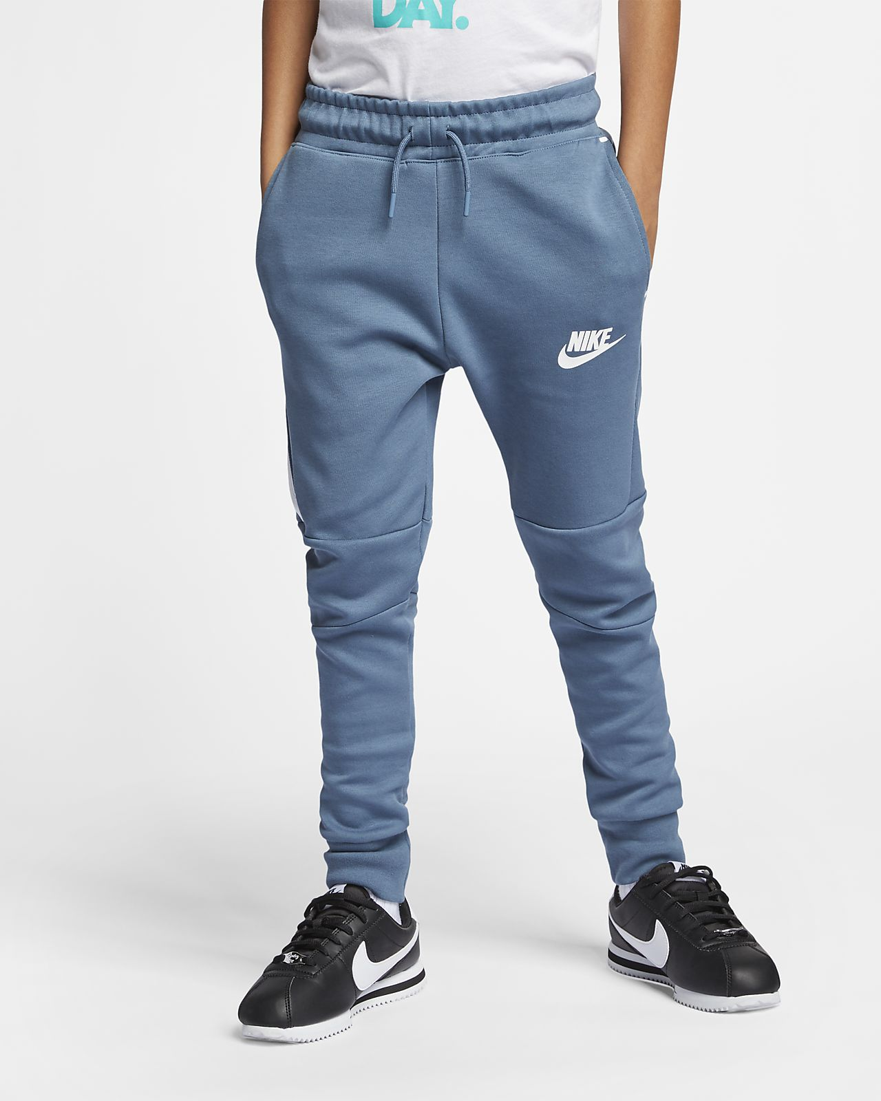 Pantalones de tejido Tech Fleece para niños talla grande Nike Sportswear