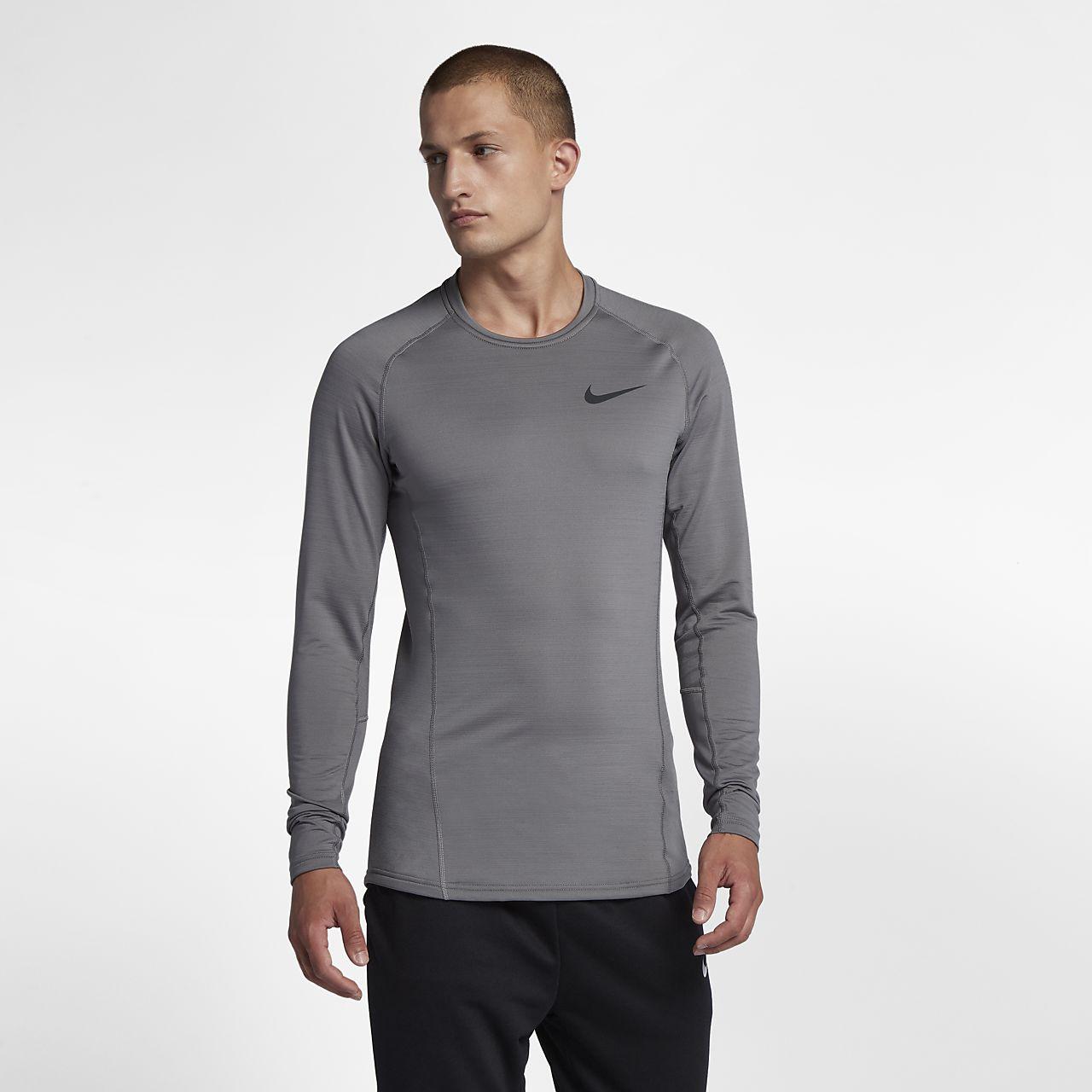 Nike Pro Warm Langarm Herren-Trainingsoberteil