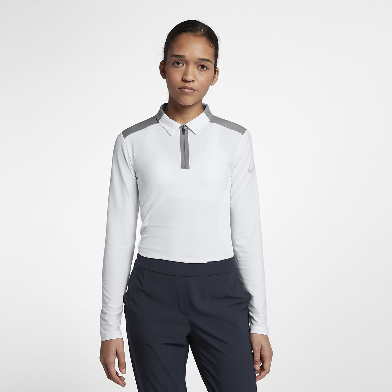 Polo da golf a manica lunga Nike Zonal Cooling - Donna