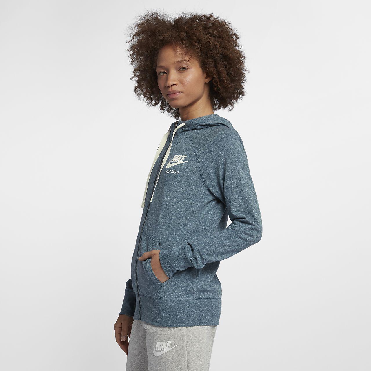 4b493dd875d Nike Sportswear Gym Vintage Women s Full-Zip Hoodie. Nike.com