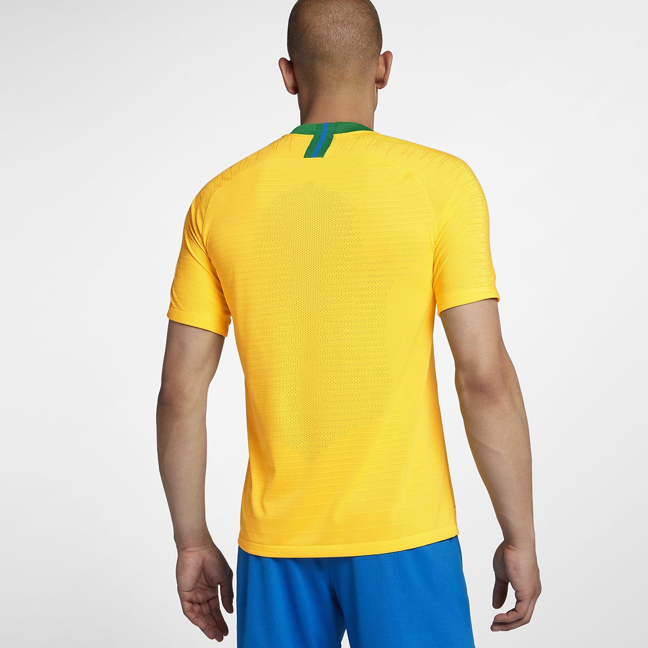 e3f1c814c9d8 2018 Brazil CBF Vapor Match Home Men s Football Shirt. Nike.com SK