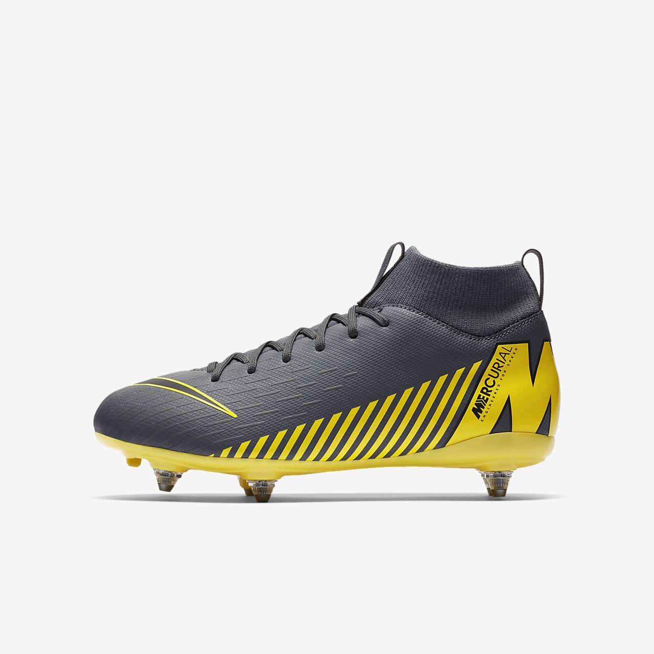 quality design 8f898 5603b ... Chaussure de football à crampons pour terrain gras Nike Jr. Mercurial  Superfly VI Academy SG