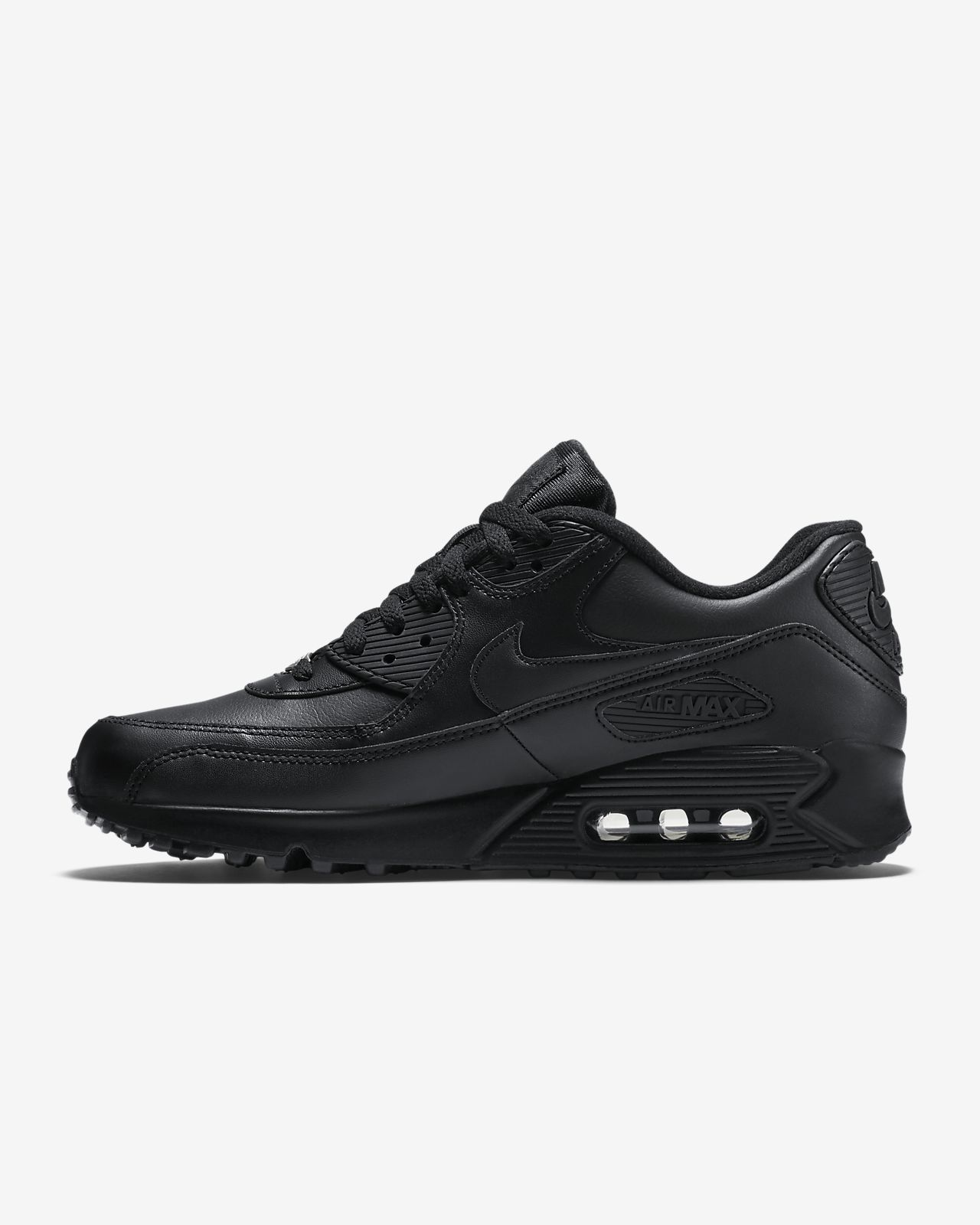 Nike Air Max 90 Leather Mænd Sort 302519 001