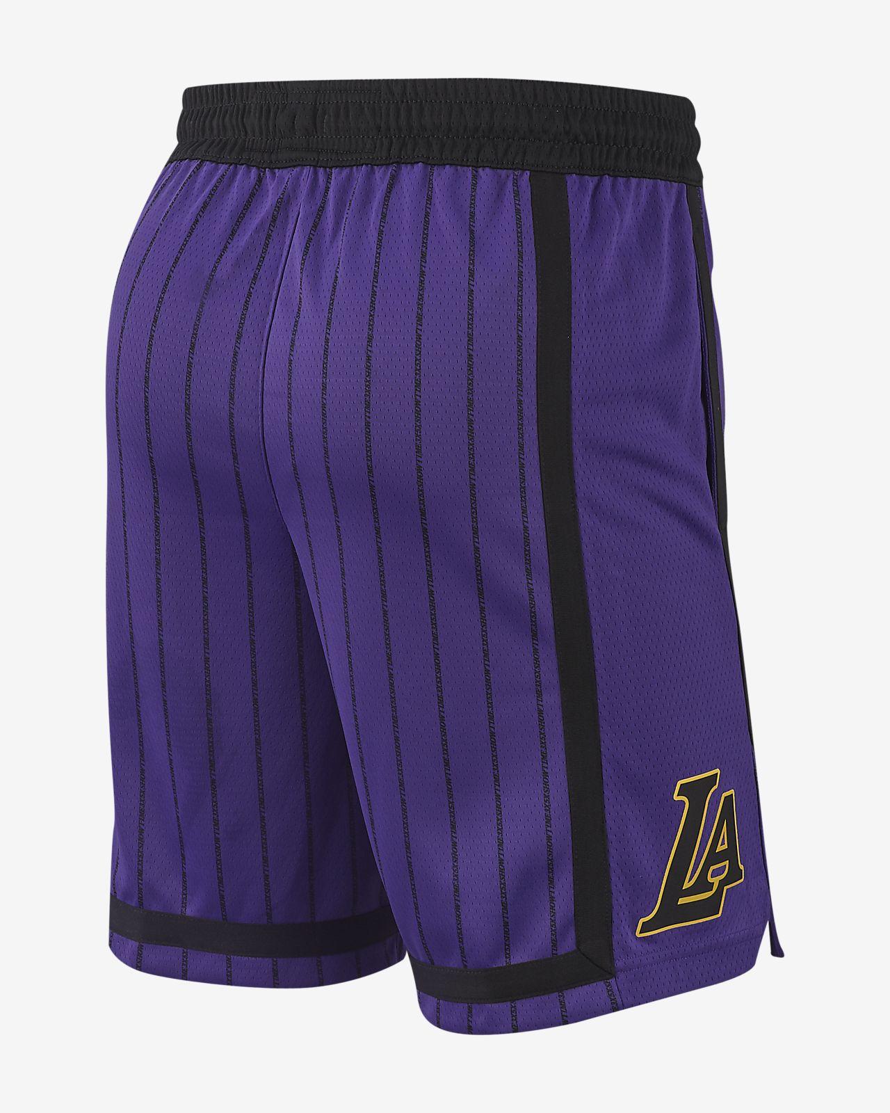 8e12453c4ab Los Angeles Lakers City Edition Swingman Men s Nike NBA Shorts. Nike ...
