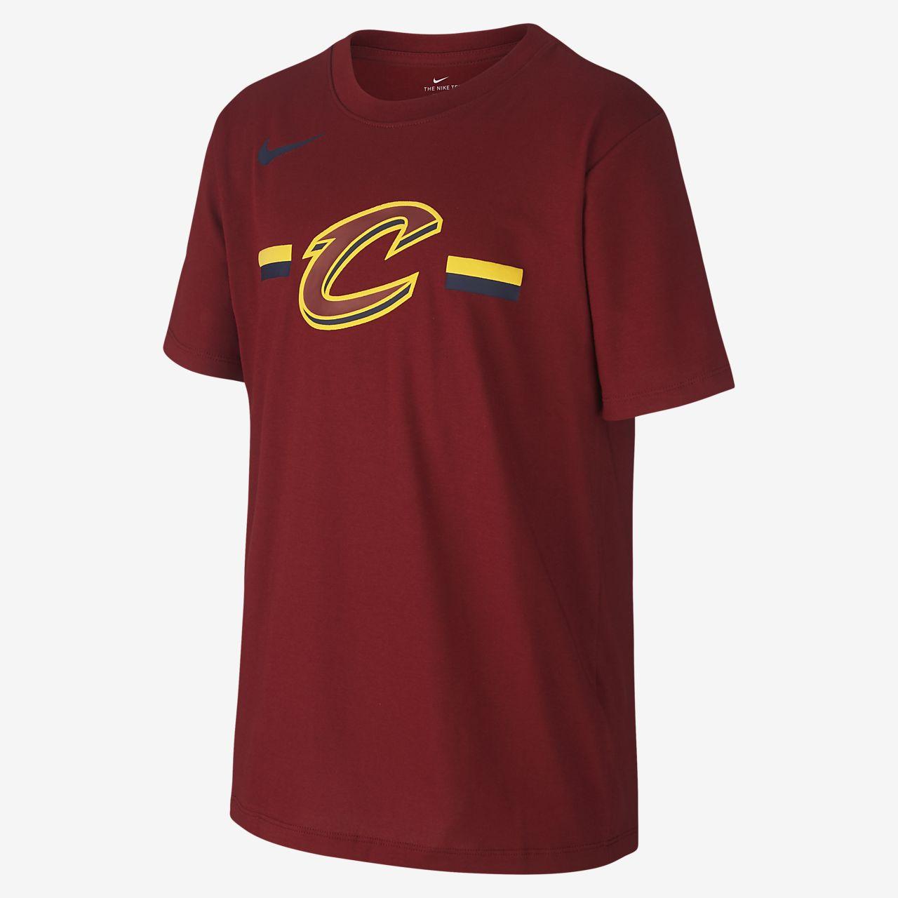 Tee-shirt NBA Cleveland Cavaliers Nike Dri-FIT Logo pour Enfant plus âgé