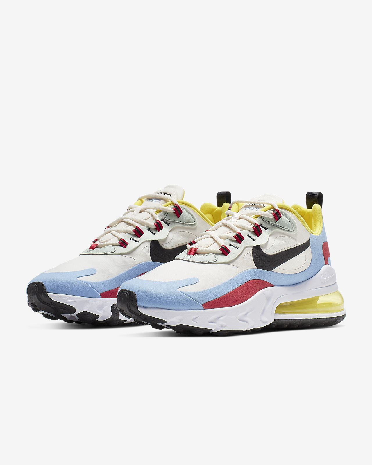 Details about Nike Air Max 270 React Summit White Blue Pink Womens Running Shoes AT6174 100