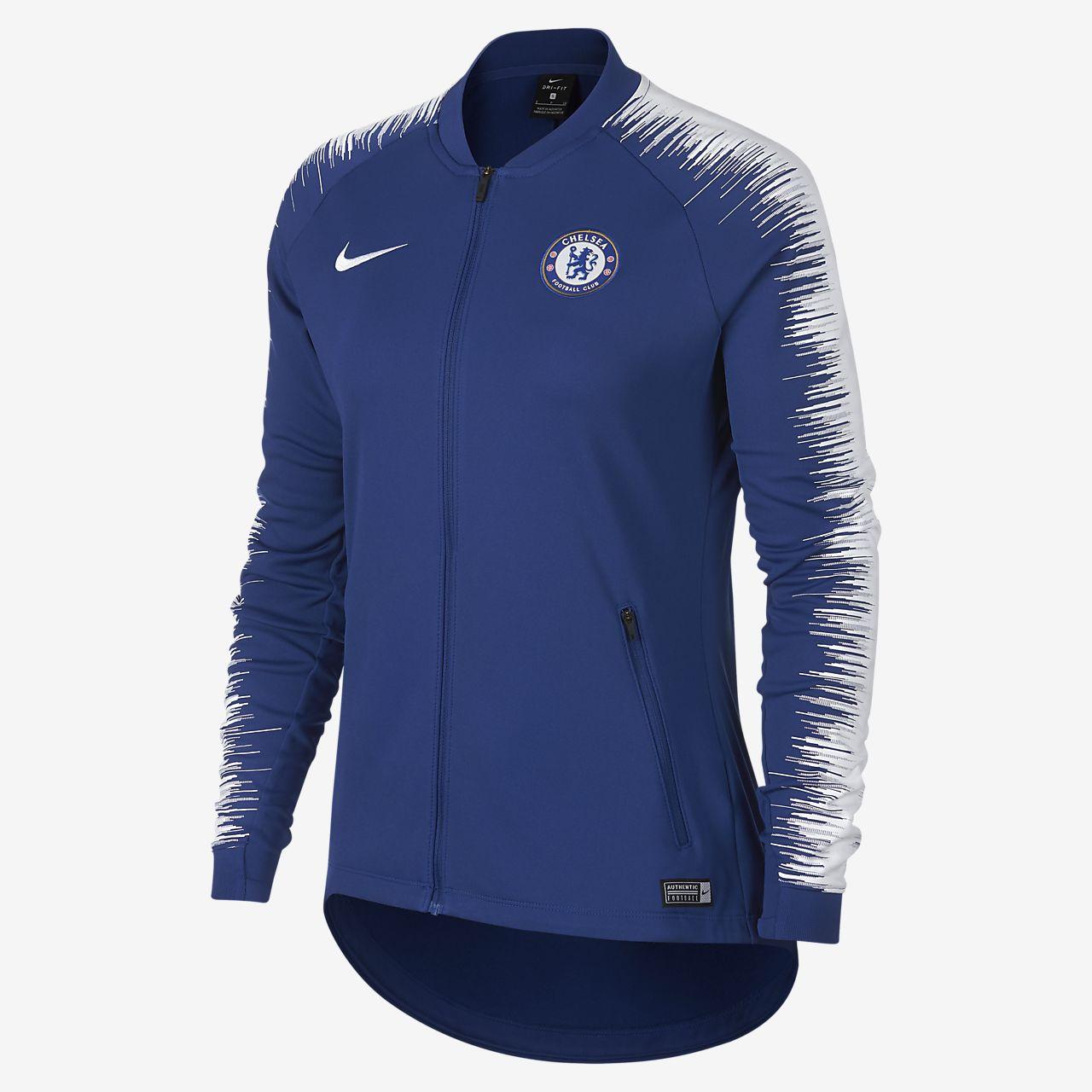 Chamarra de fútbol para mujer Chelsea FC Anthem