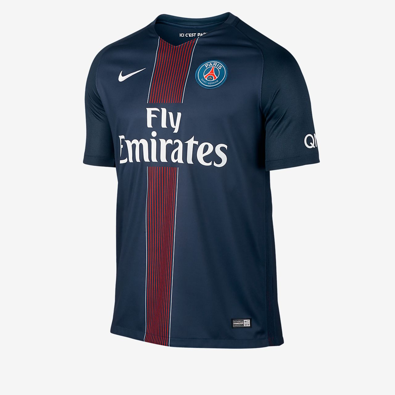 Мужское футбольное джерси 2016/17 Paris Saint-Germain Stadium Home